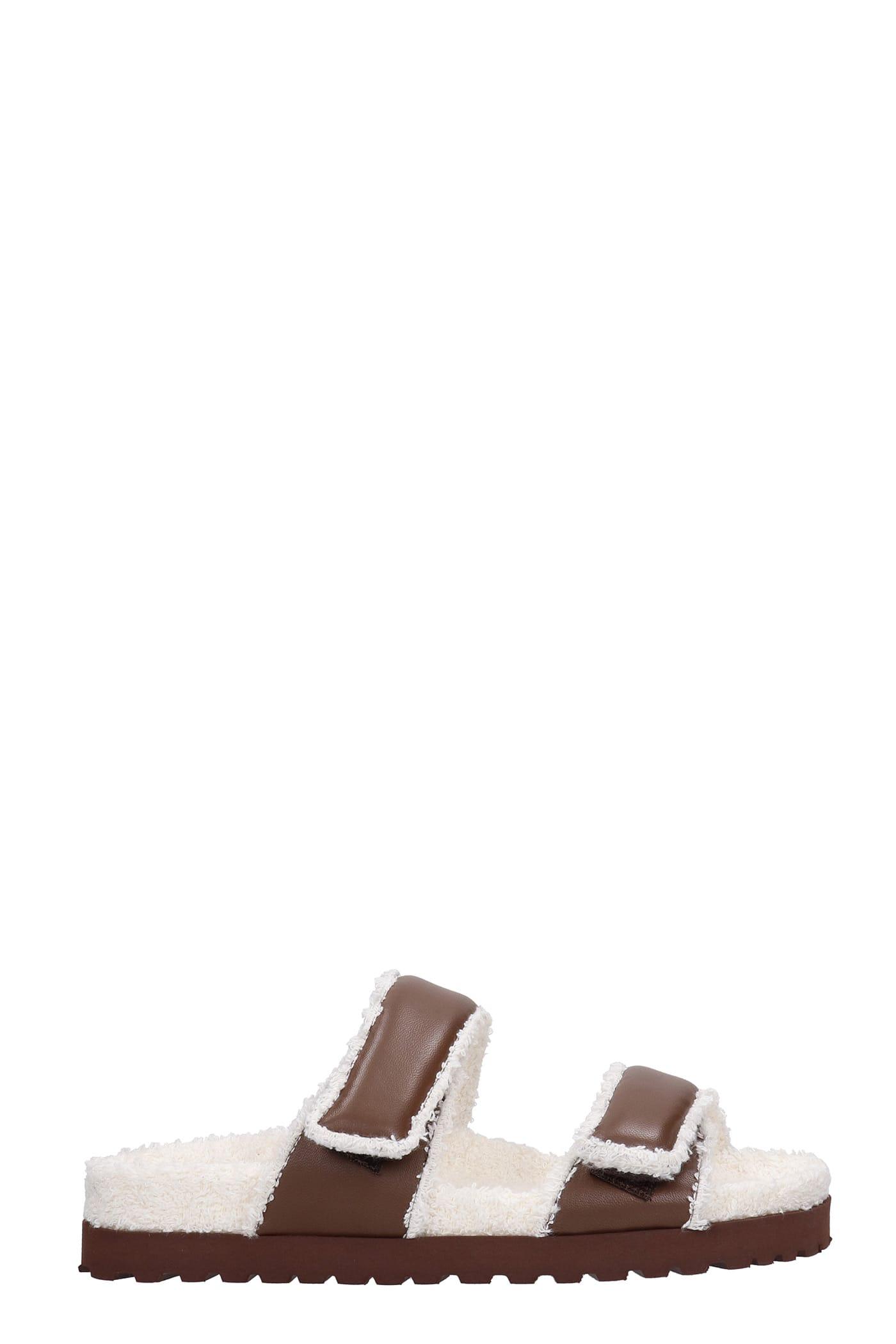 Perni 11 Flats In Brown Leather
