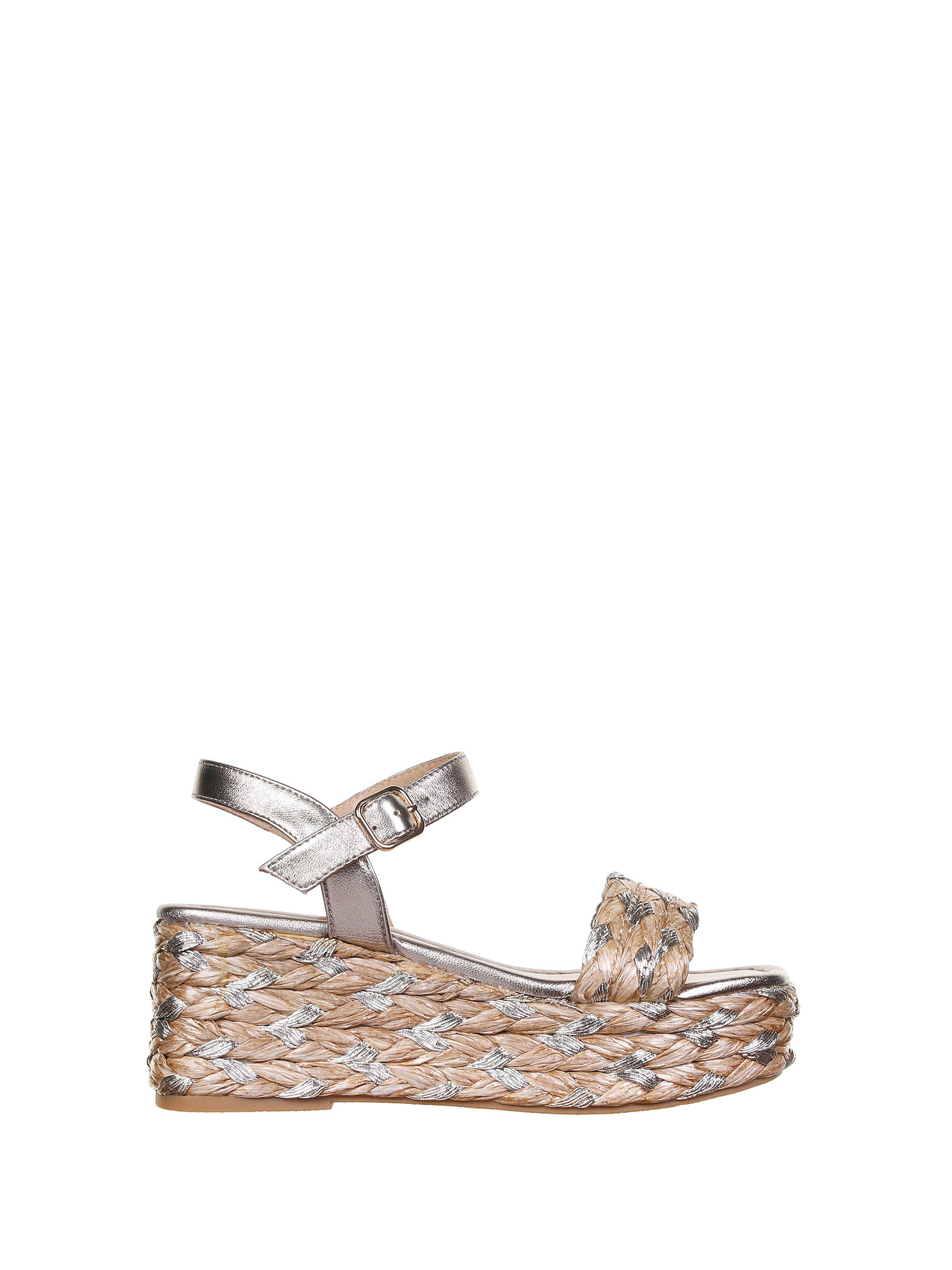 Multicolored Wedge Sandals