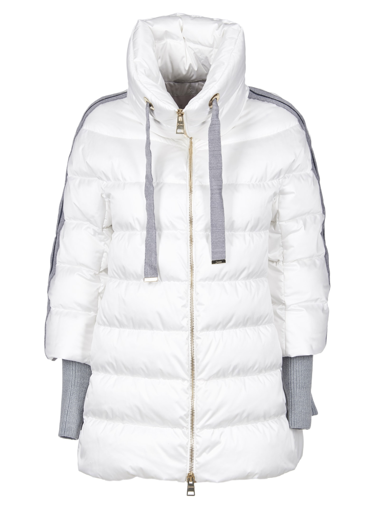 Herno Resort Down Jacket With Three-quarter Sleeves