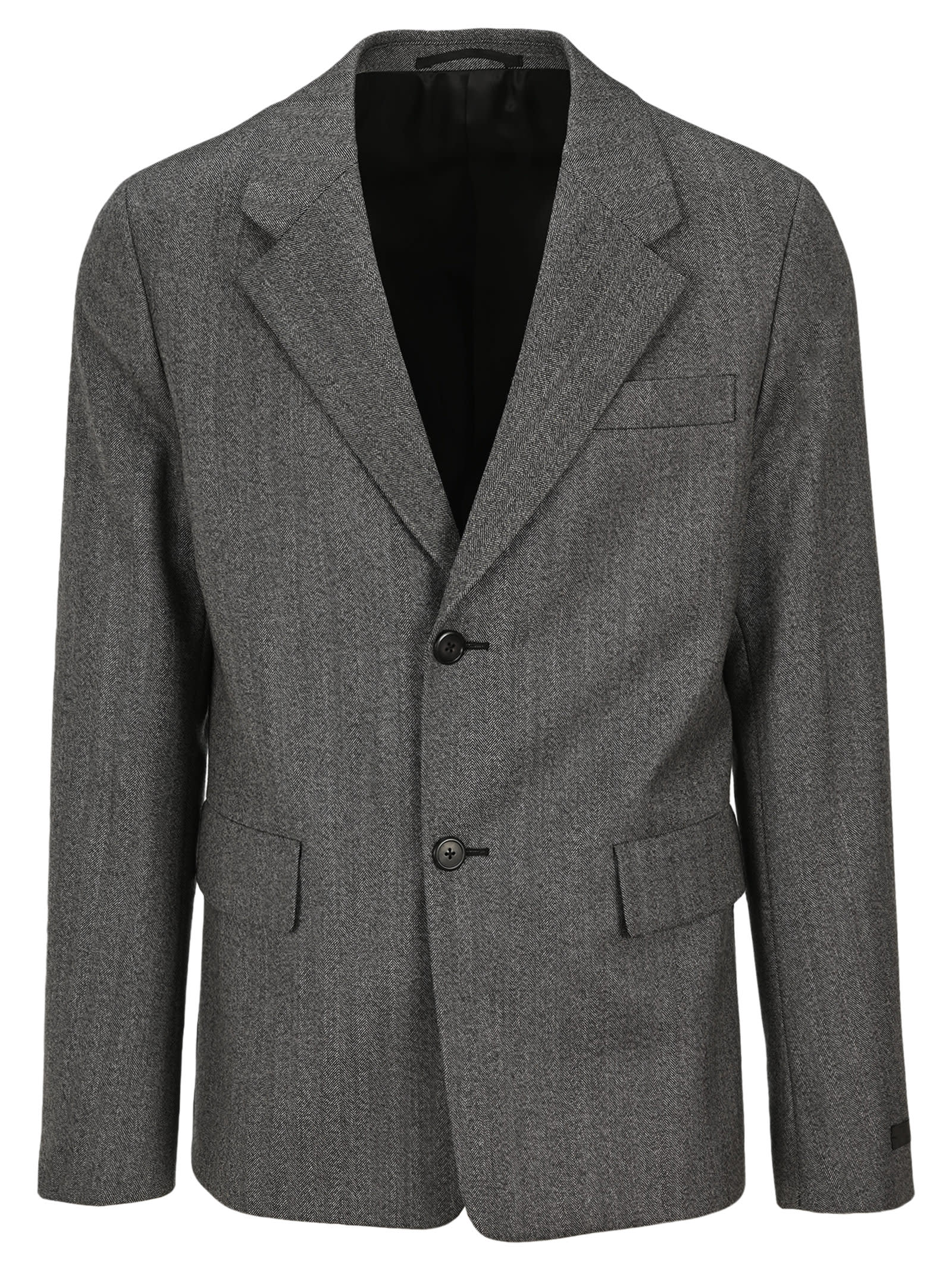 Prada Single-breasted Herringbone Blazer