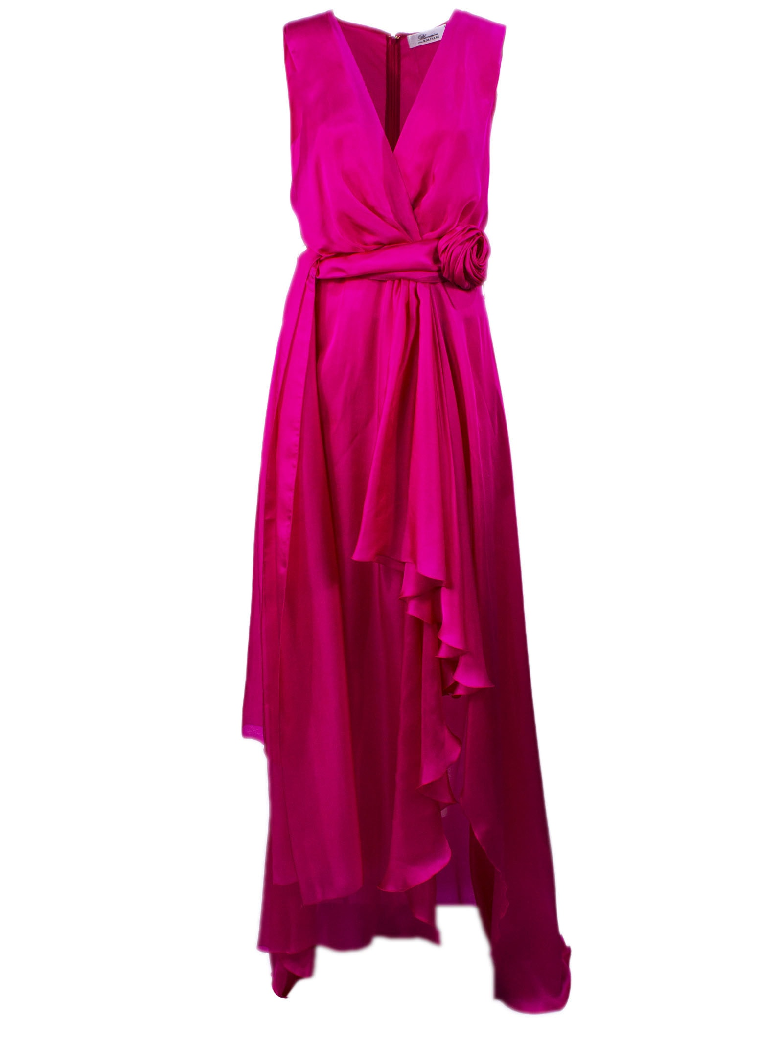 Buy Blumarine Long Silk Dress online, shop Blumarine with free shipping