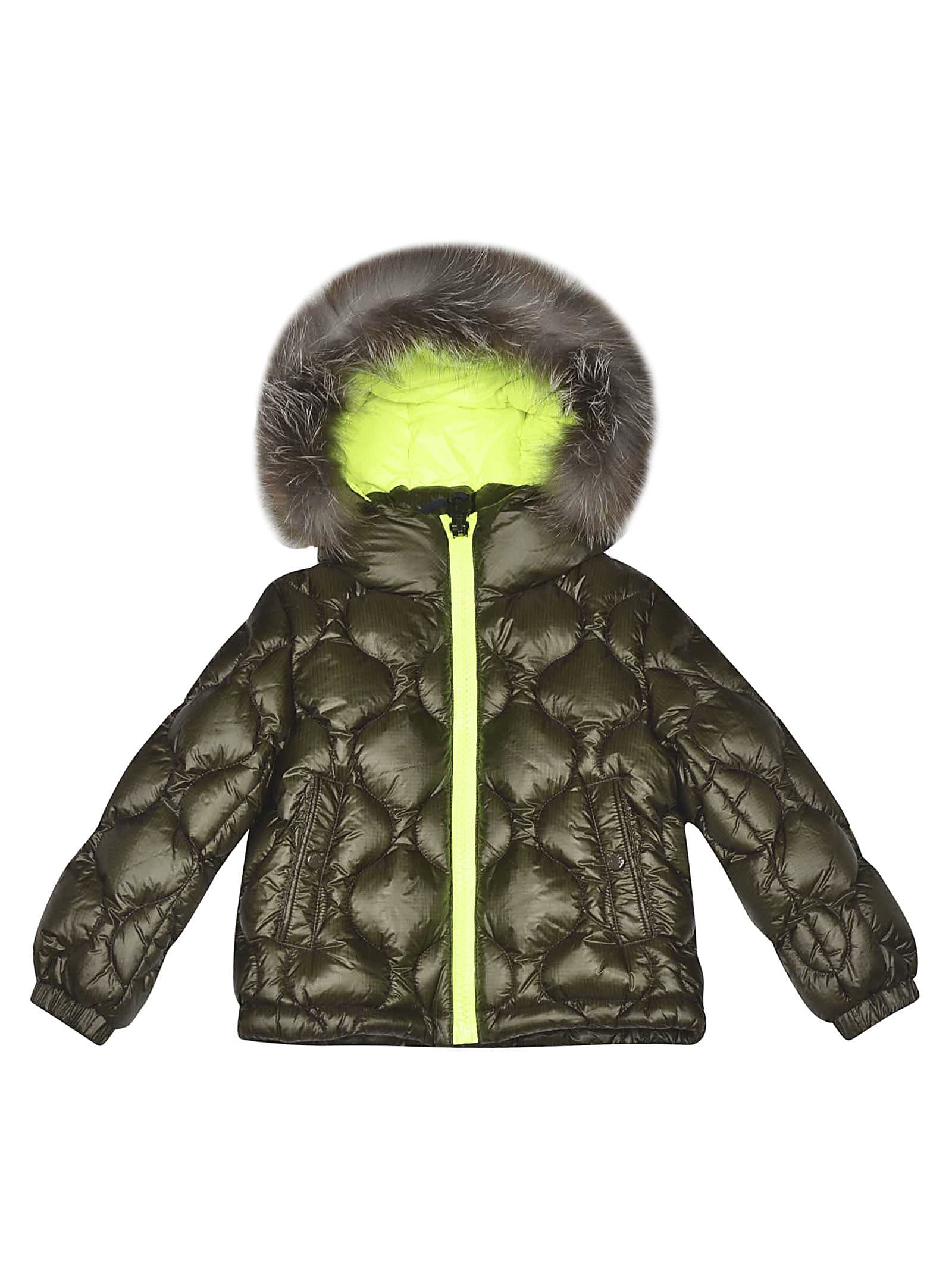 Moncler Kids' Oule Padded Jacket In Verde