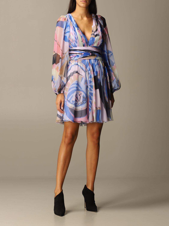 Emilio Pucci Dress Emilio Pucci Dress In Printed Silk Chiffon