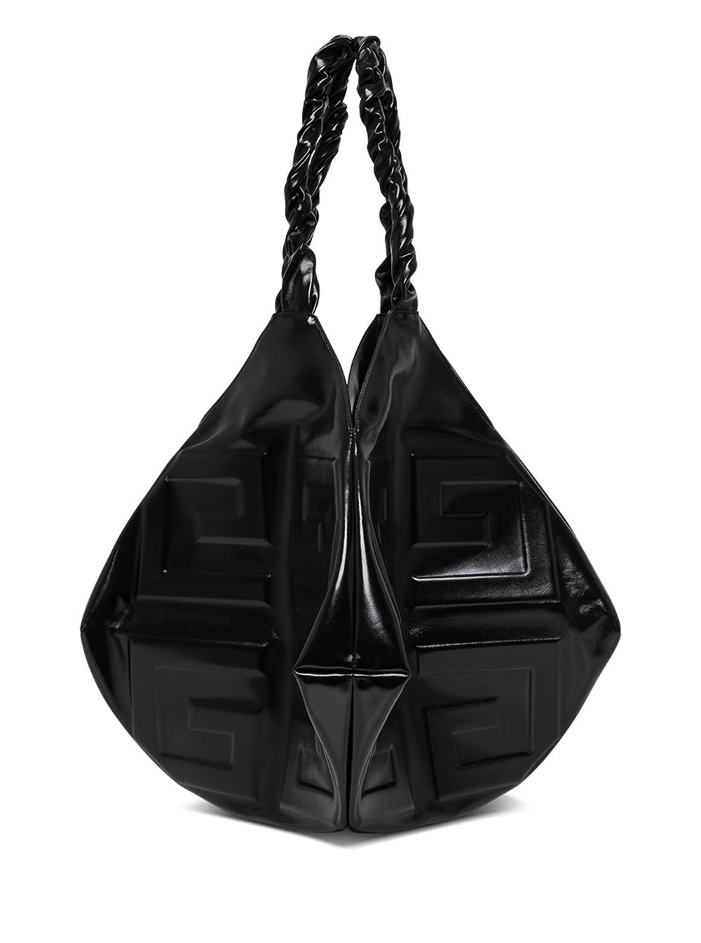 Givenchy Leathers BALLE LARGE HANDBAG IN BLACK LEATHER WITH LOGO