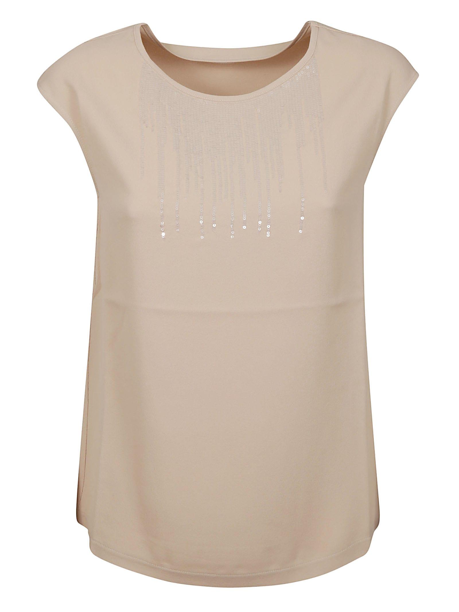 Fabiana Filippi Bead Embellished Sleeveless Top
