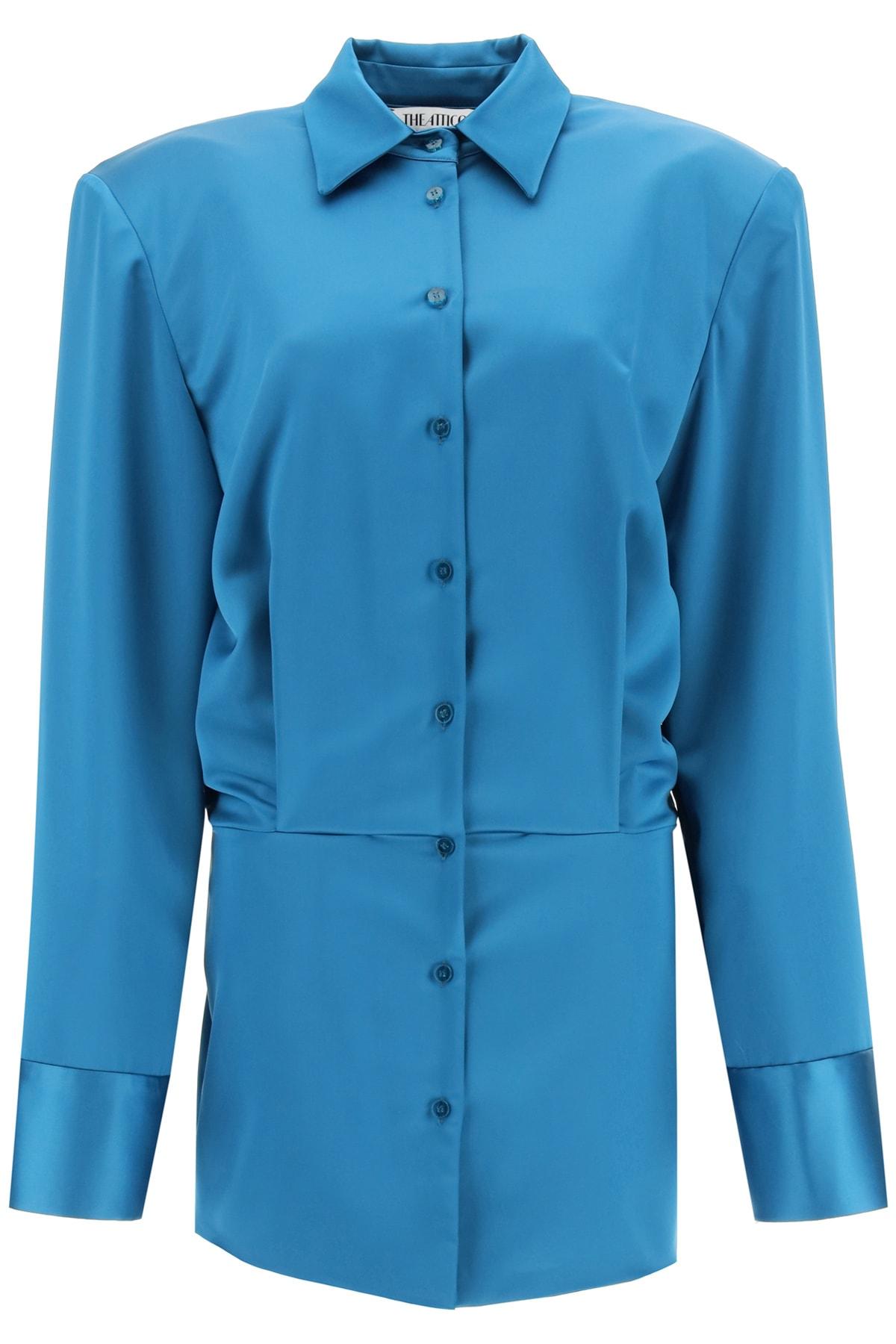 Buy The Attico Margot Mini Shirt Dress online, shop The Attico with free shipping