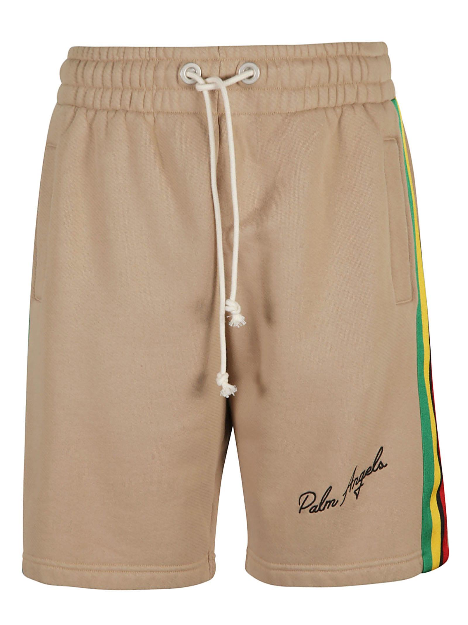 Palm Angels Shorts SIDE TAPE EXODUS SWEATSHORTS