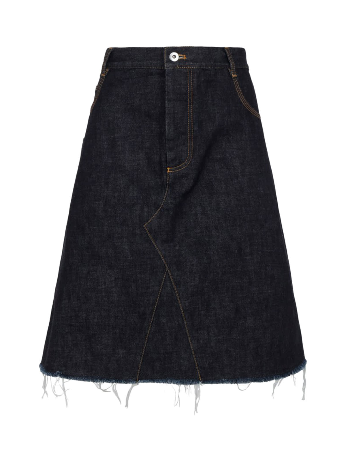 Bottega Veneta Skirt Raw Denim