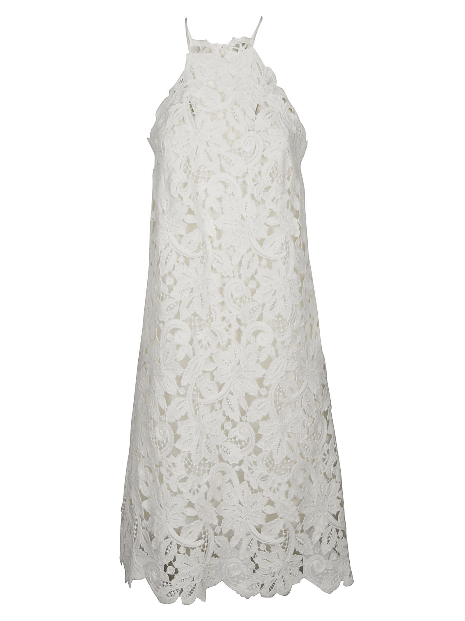 Ermanno Scervino Perforated Floral Long Dress