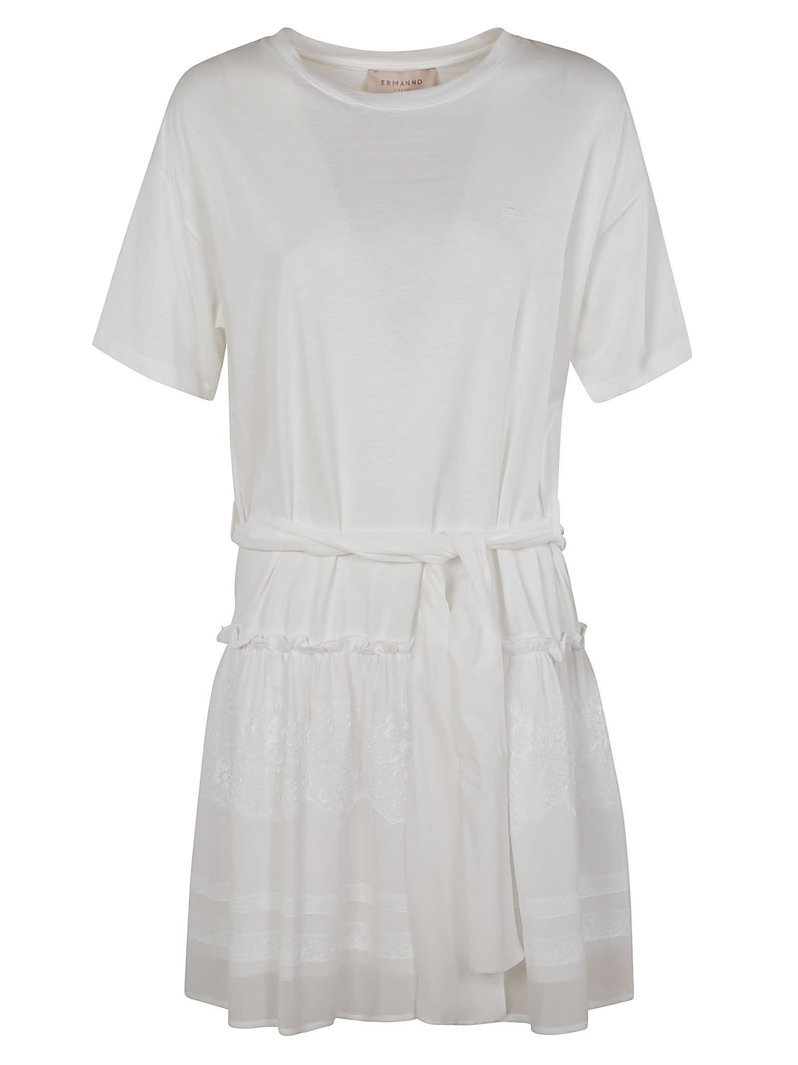 Ermanno Scervino Tie-waist Plain Dress