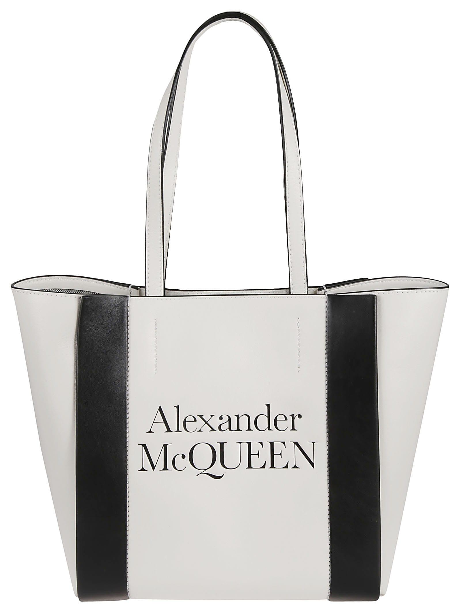 Alexander Mcqueen Logo Tote In Multicolor