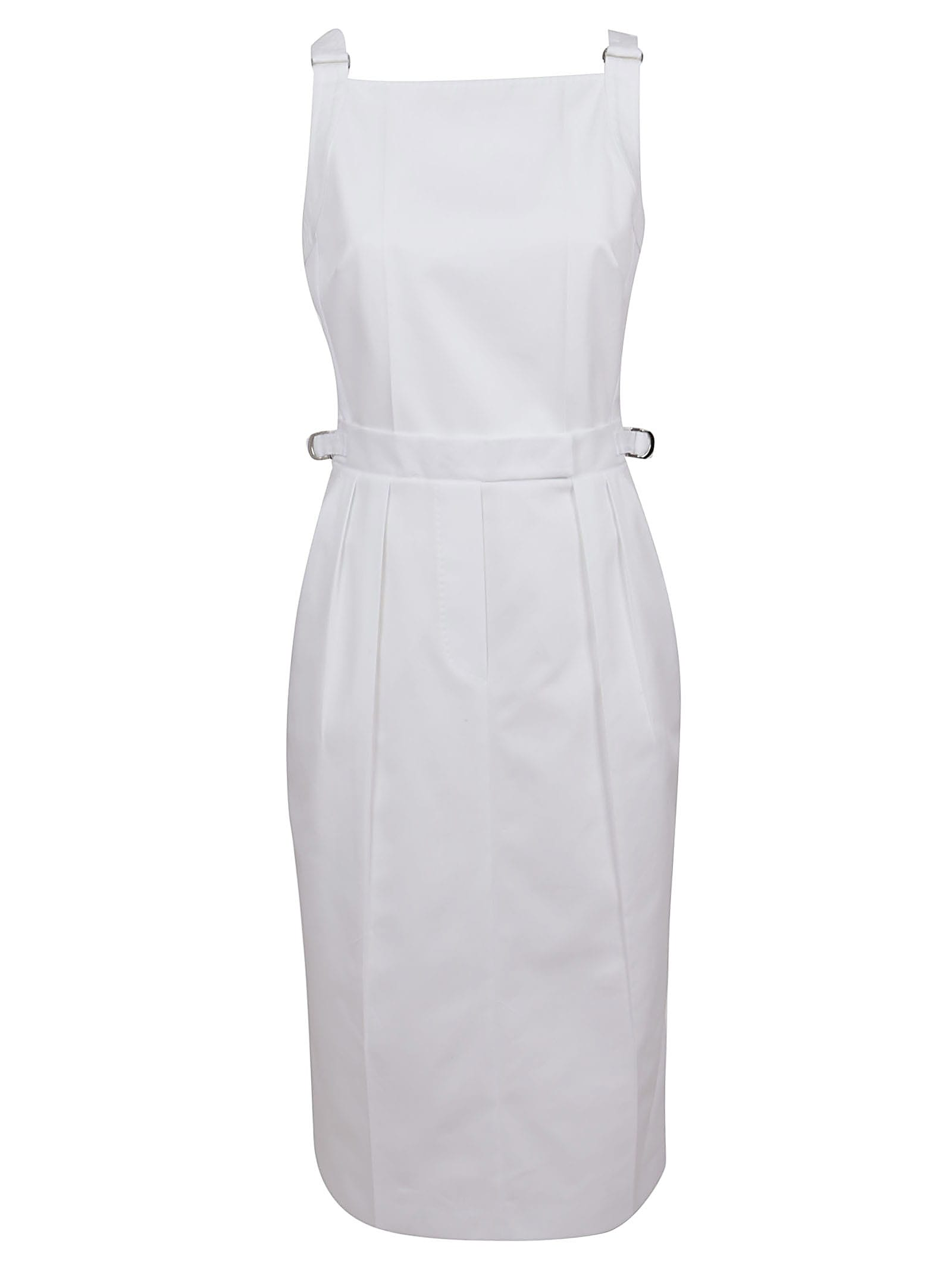 Buy White Cotton Dress online, shop Max Mara with free shipping