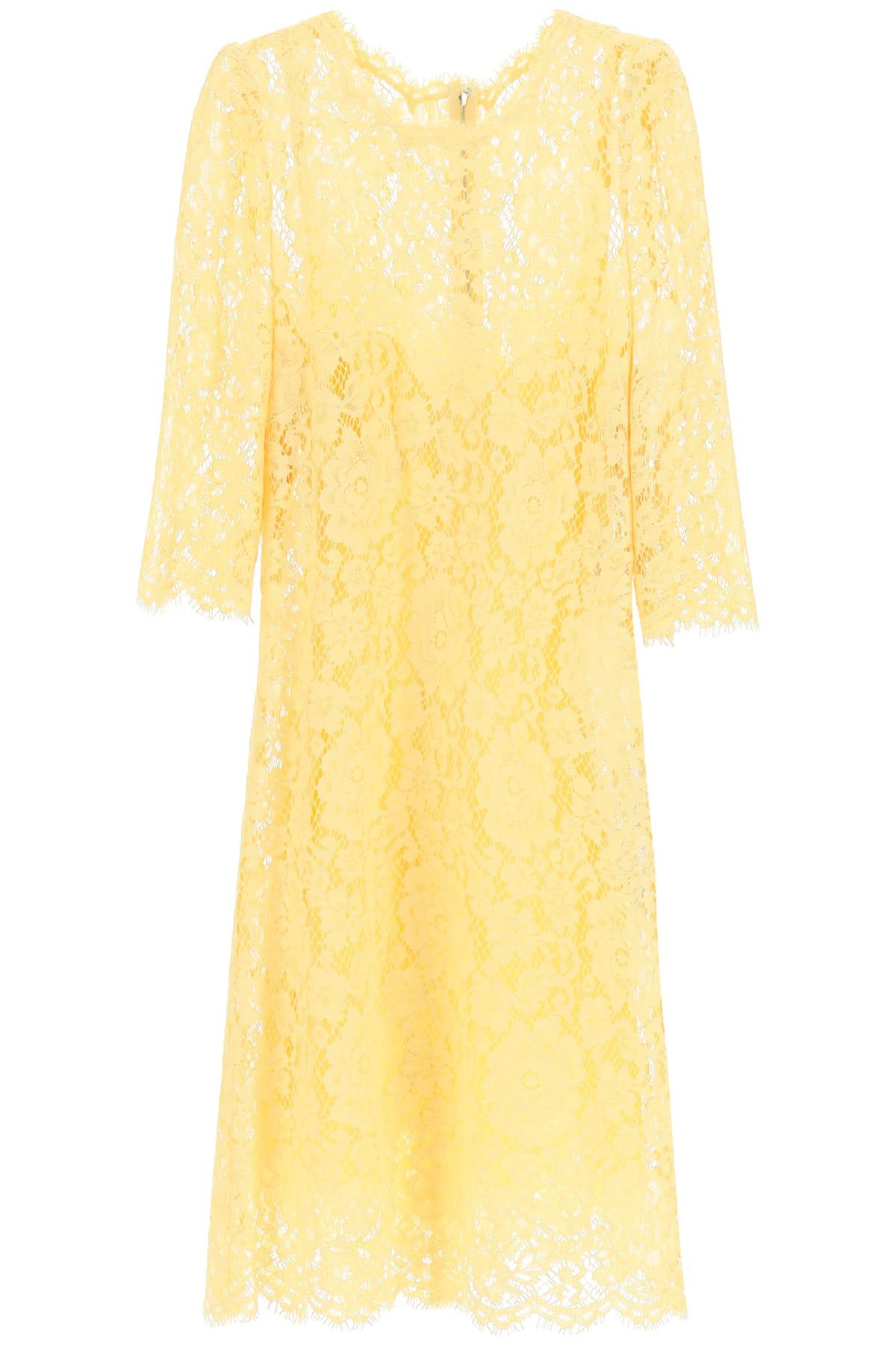 Buy Dolce & Gabbana Cordonetto Lace Mini Dress online, shop Dolce & Gabbana with free shipping