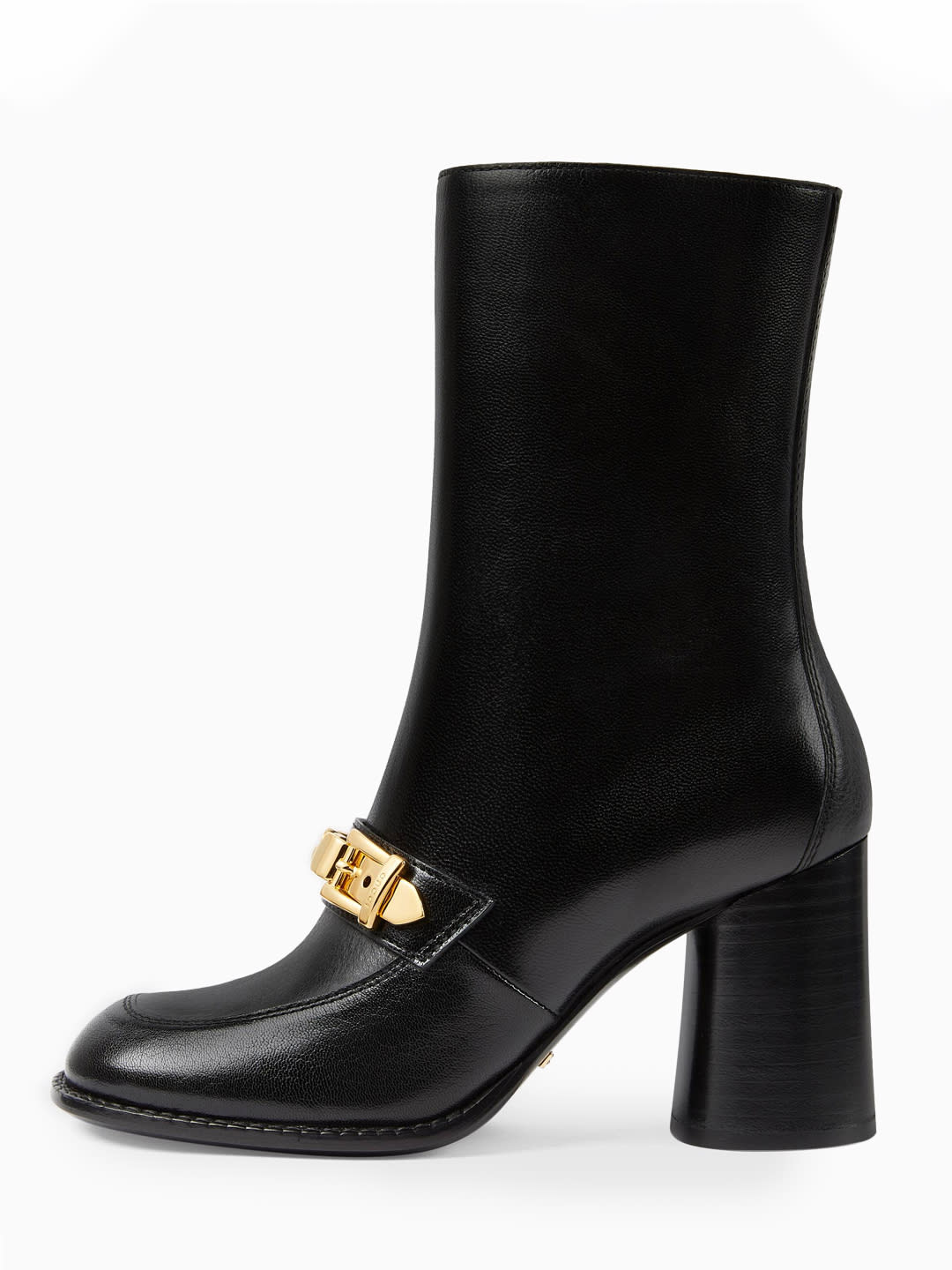 GUCCI SYLVIE CHAIN ANKLE BOOT BLACK