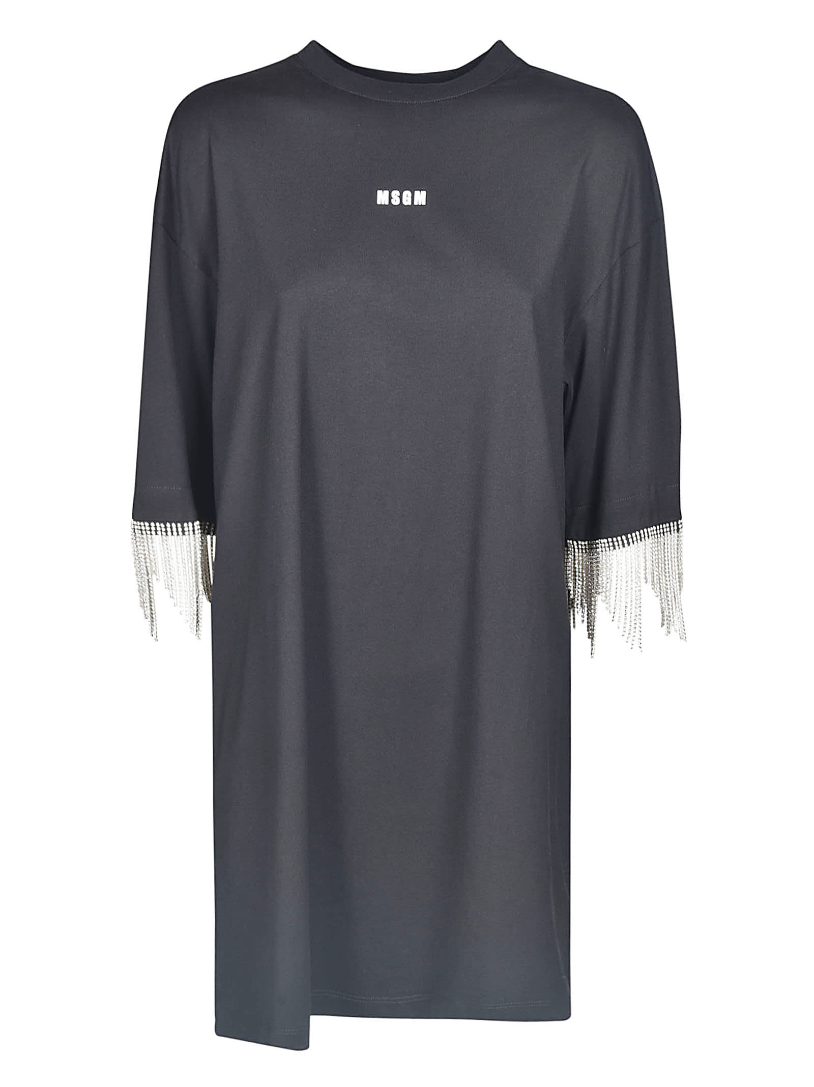 MSGM Micro Logo Embellished Dress