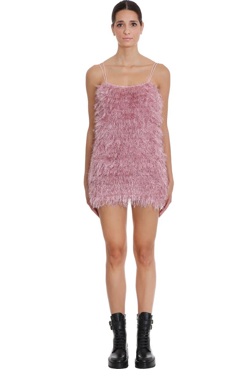 Photo of  Laneus Dress In Rose-pink Wool- shop Laneus  online sales
