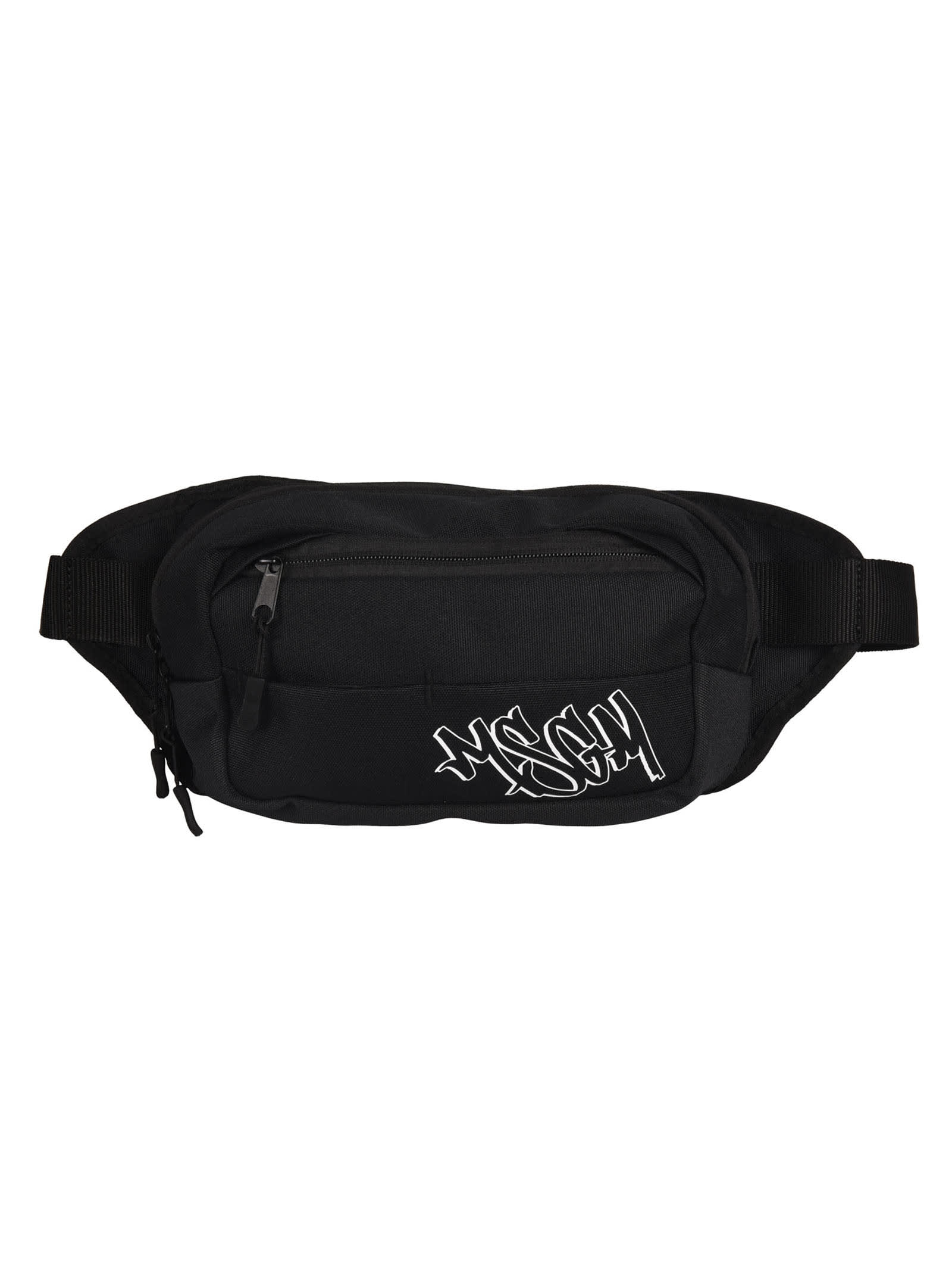 Msgm GRAFFITI LOGO PRINT BELT BAG