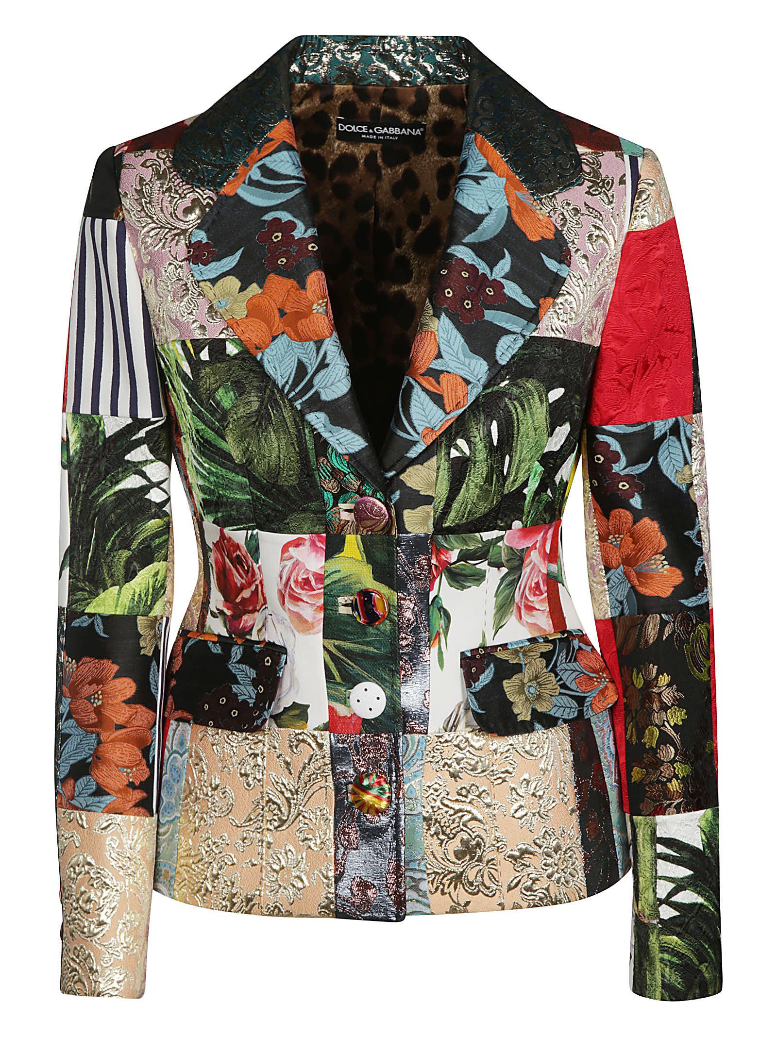 Dolce & Gabbana Coats MULTI-FLORAL BLAZER