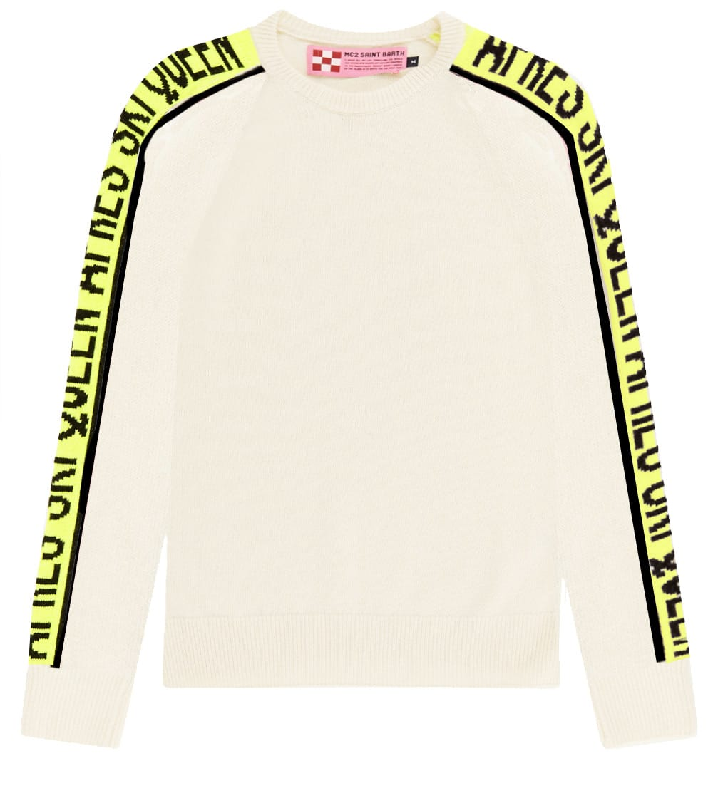 Queen Ski Blended Cashmere White Womans Sweater