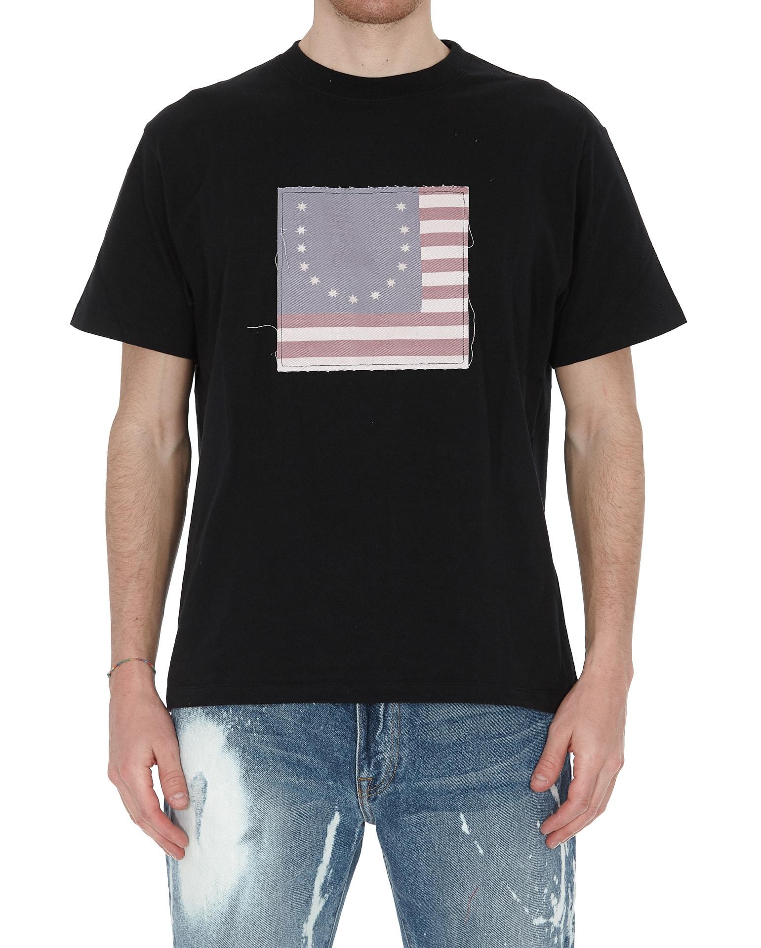 Fourtwofour On Fairfax Smiley Flag T-shirt