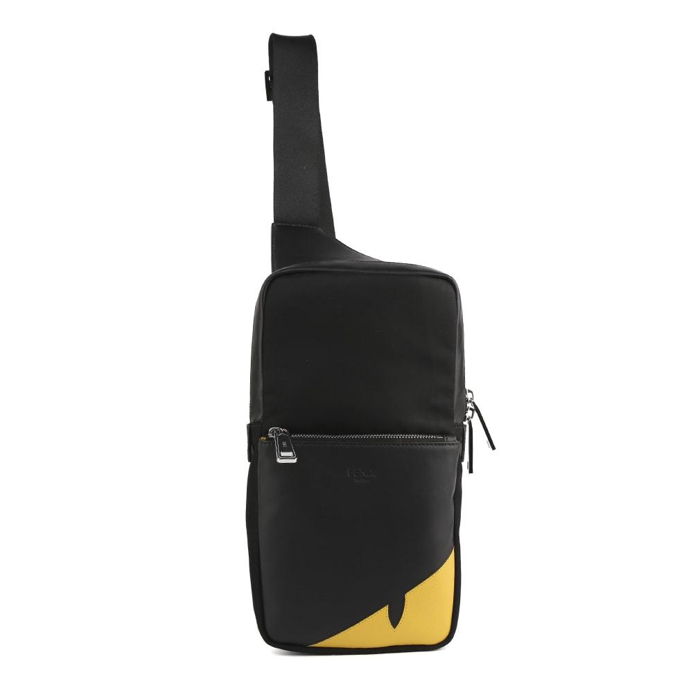 Fendi One-shoulder Backpack With Corner Bugs Motif