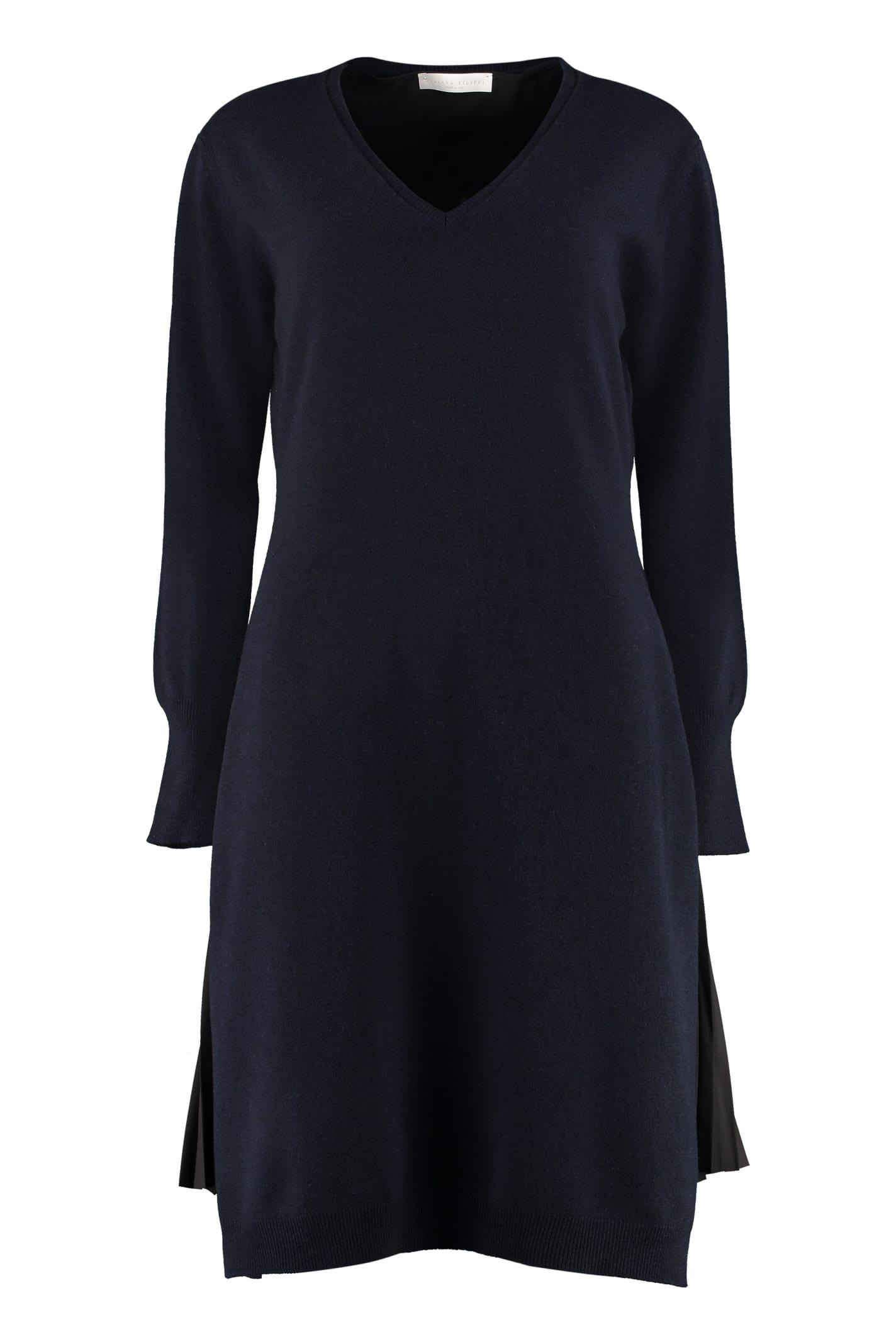 Fabiana Filippi Wool Blend Sweater Dress