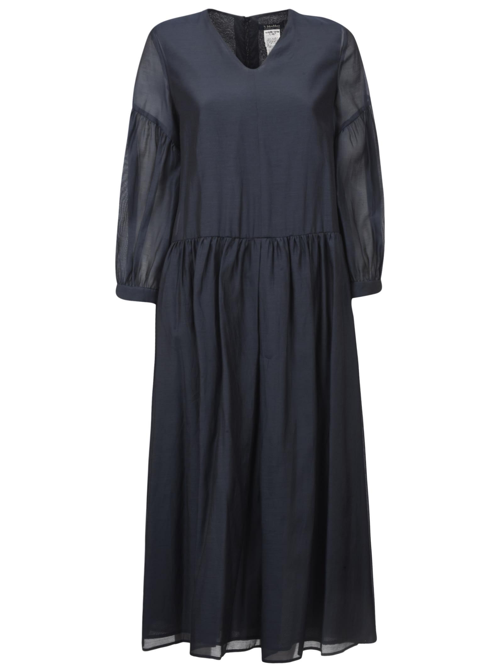 V-neck Back Zip Dress