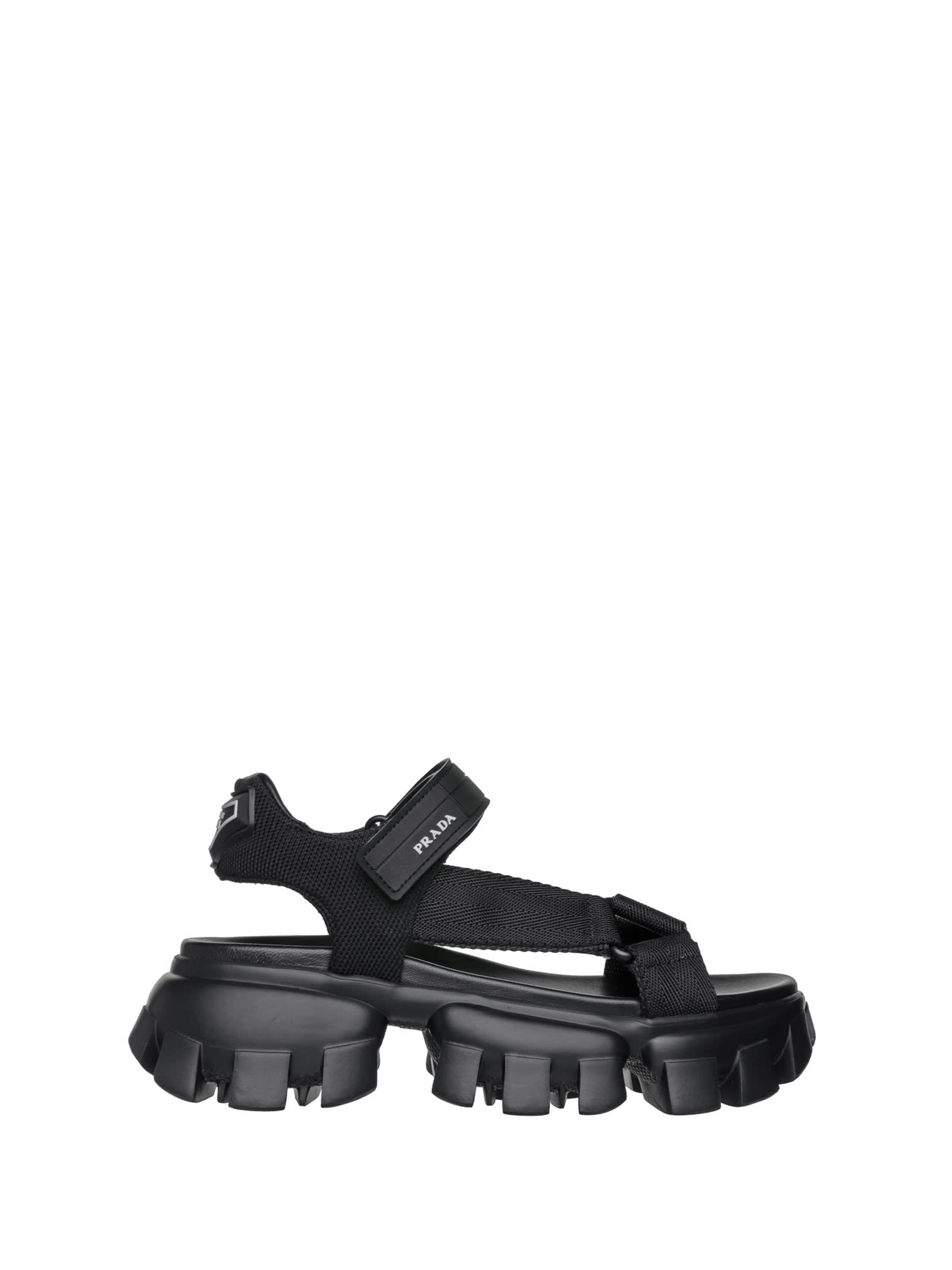 Prada Platforms THUNDER PLATFORM SANDALS