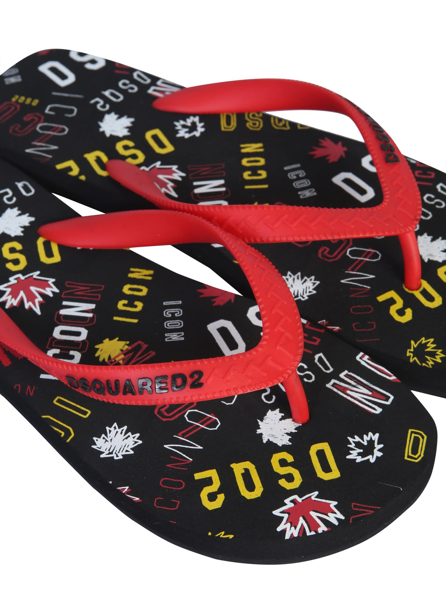 Dsquared2 Flip Flops With Logo