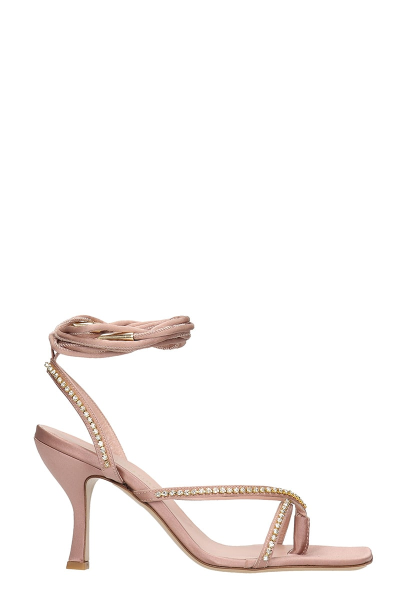 GIA COUTURE Sandals In Rose-pink Satin