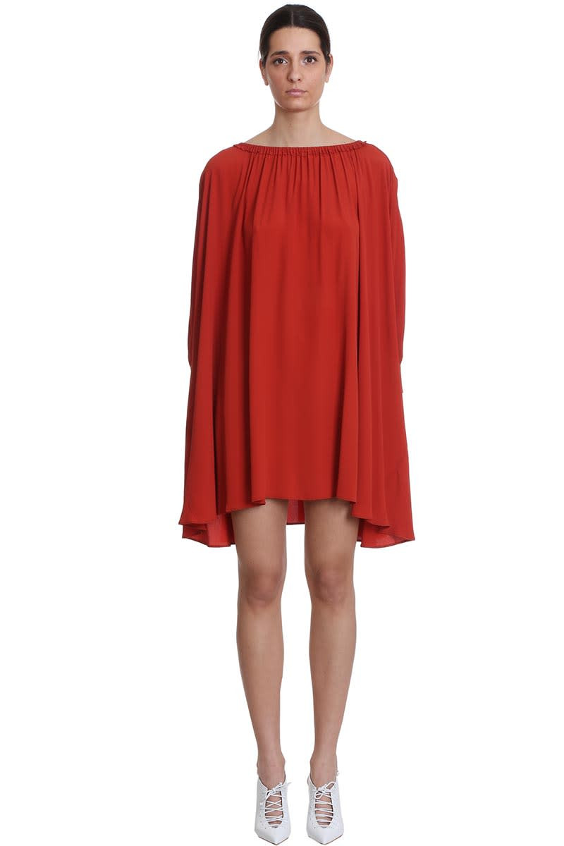 Buy Mauro Grifoni Dress In Red Tech/synthetic online, shop Mauro Grifoni with free shipping