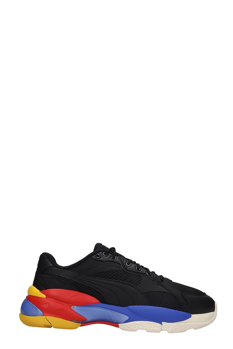 Puma Lqd Cell Episol Sneakers In Black Tech/synthetic