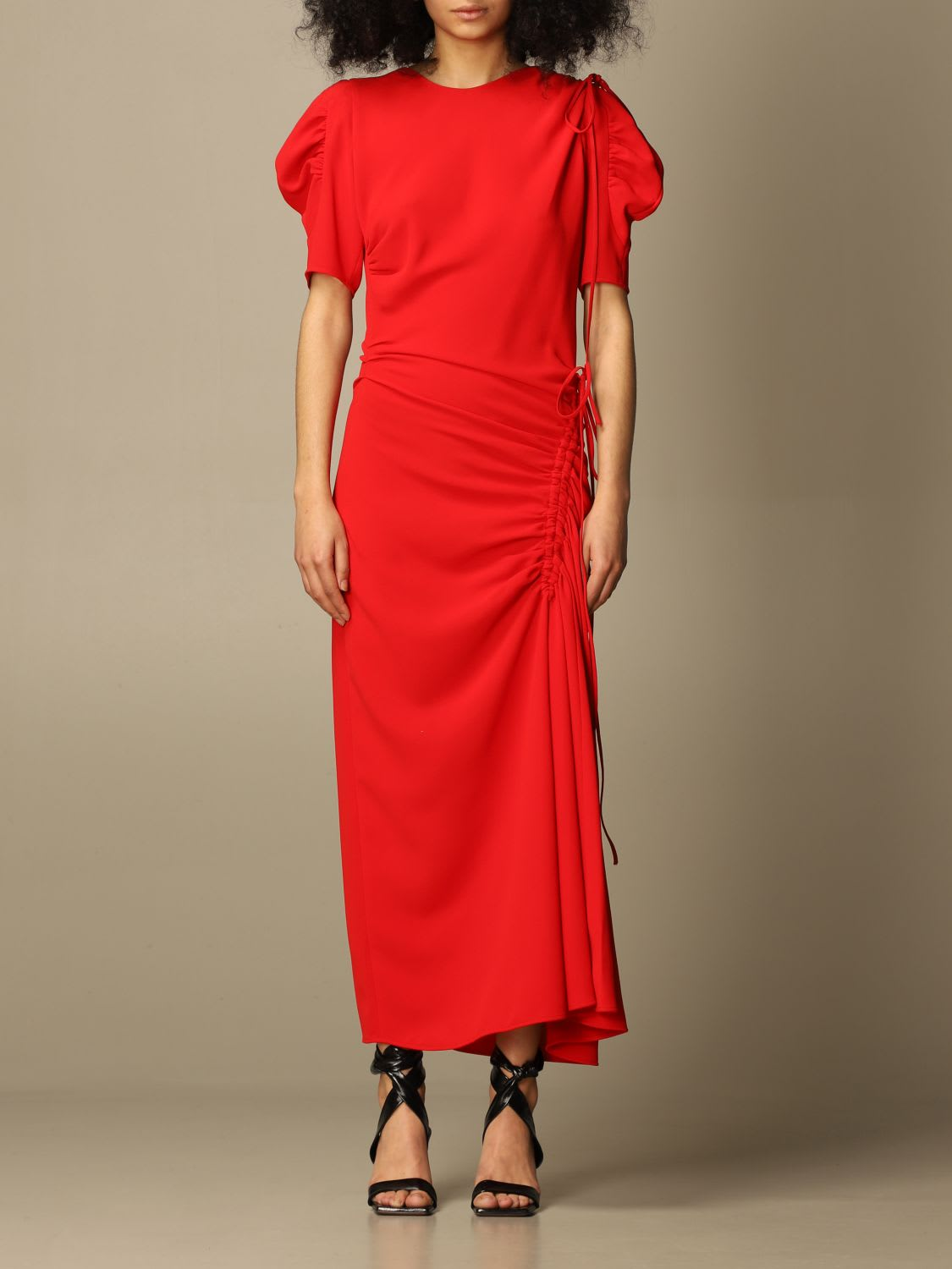 Buy N.21 N? 21 Dress N ° 21 Midi Dress With Gathered Elements online, shop N.21 with free shipping