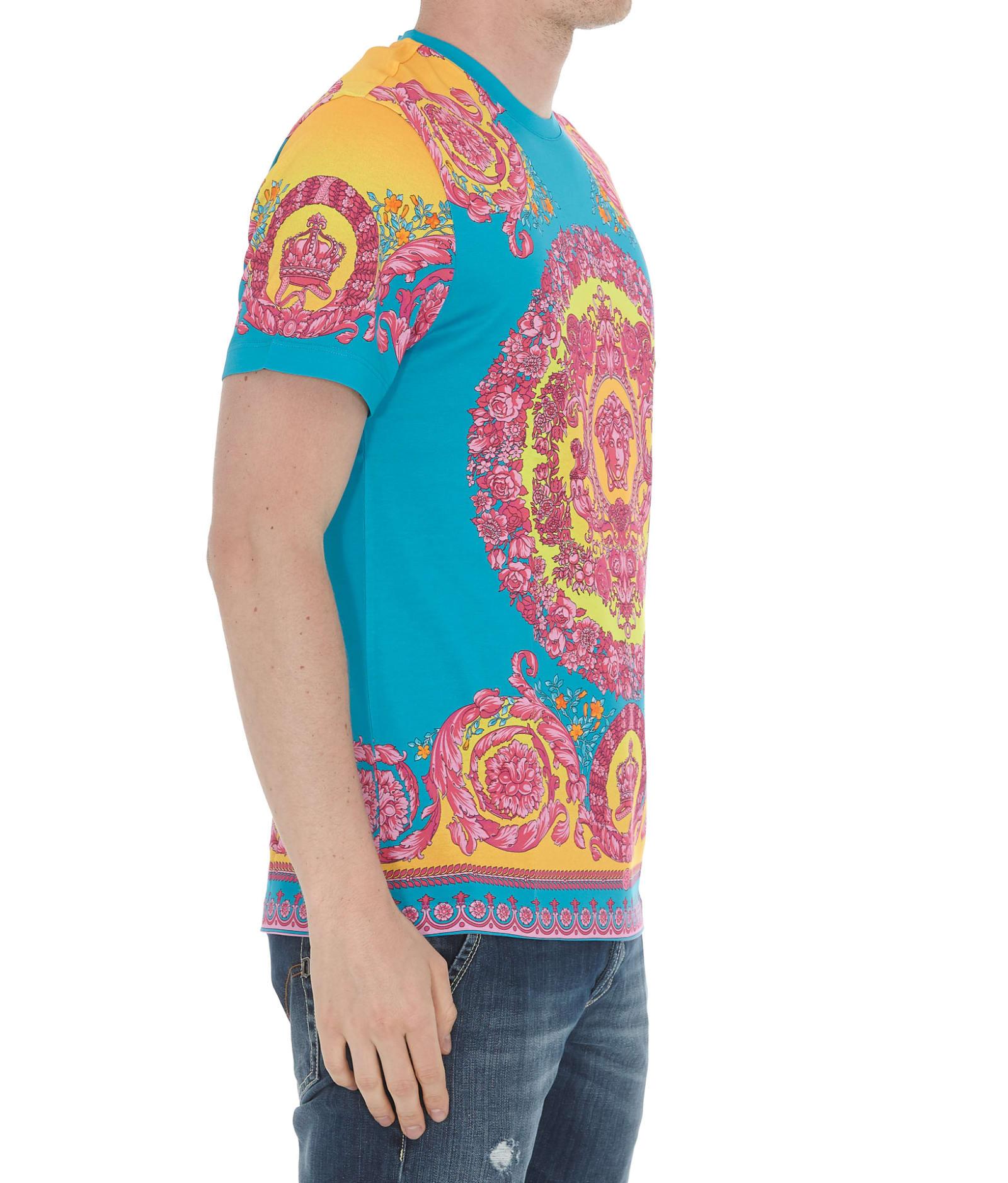 222b644de8 Versace Fluo Barocco Print T-shirt