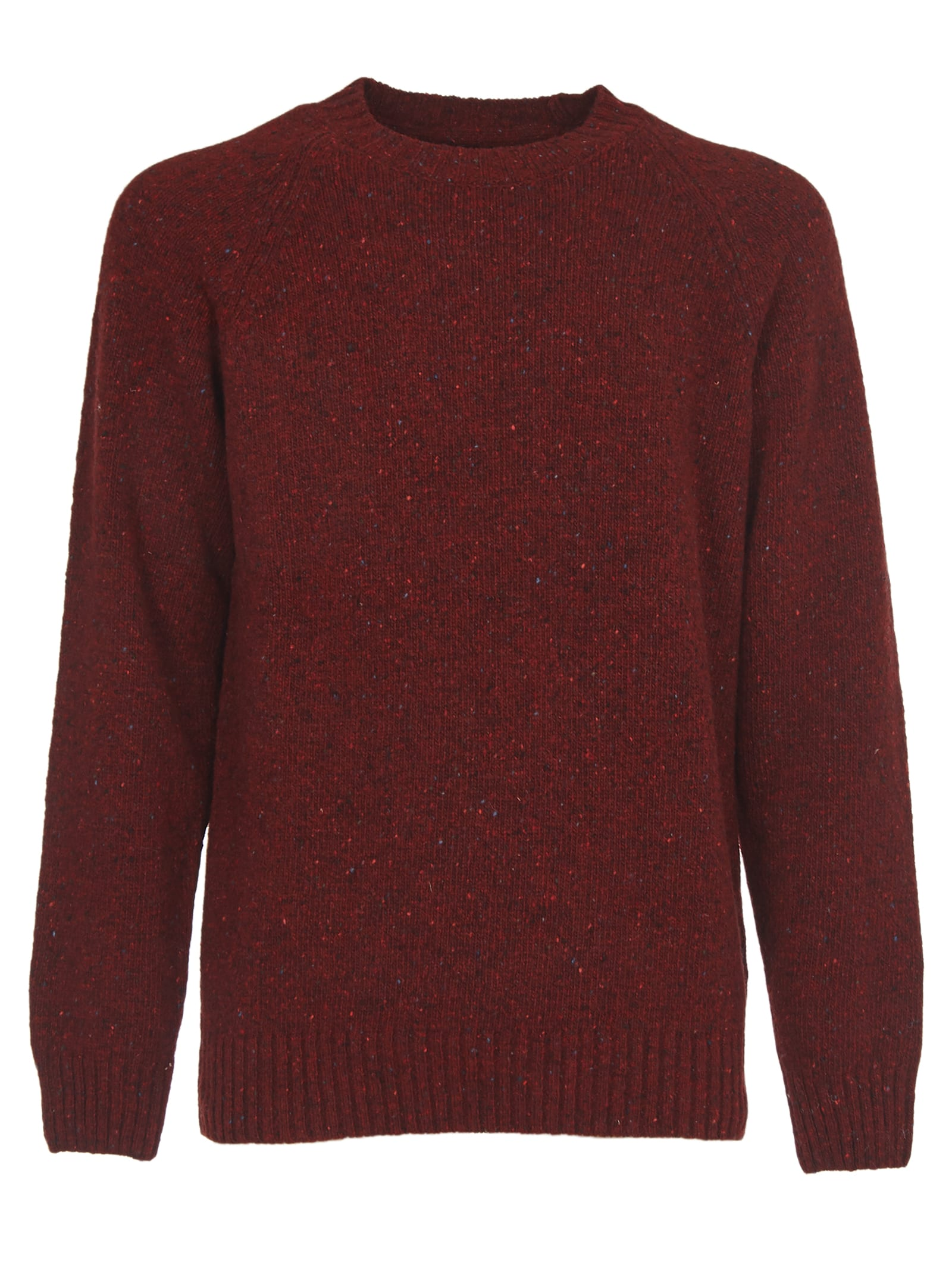 Barbour Sweaters BURGUNDY SWEATER