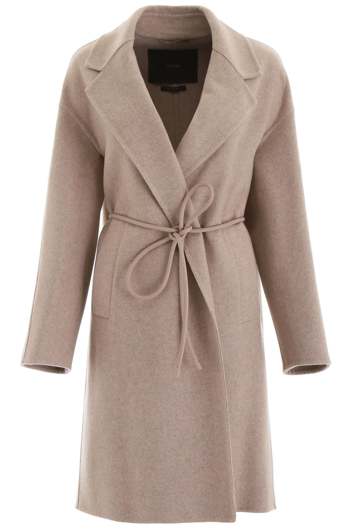 Photo of  Max Mara Atelier Plava Coat- shop Max Mara Atelier jackets online sales