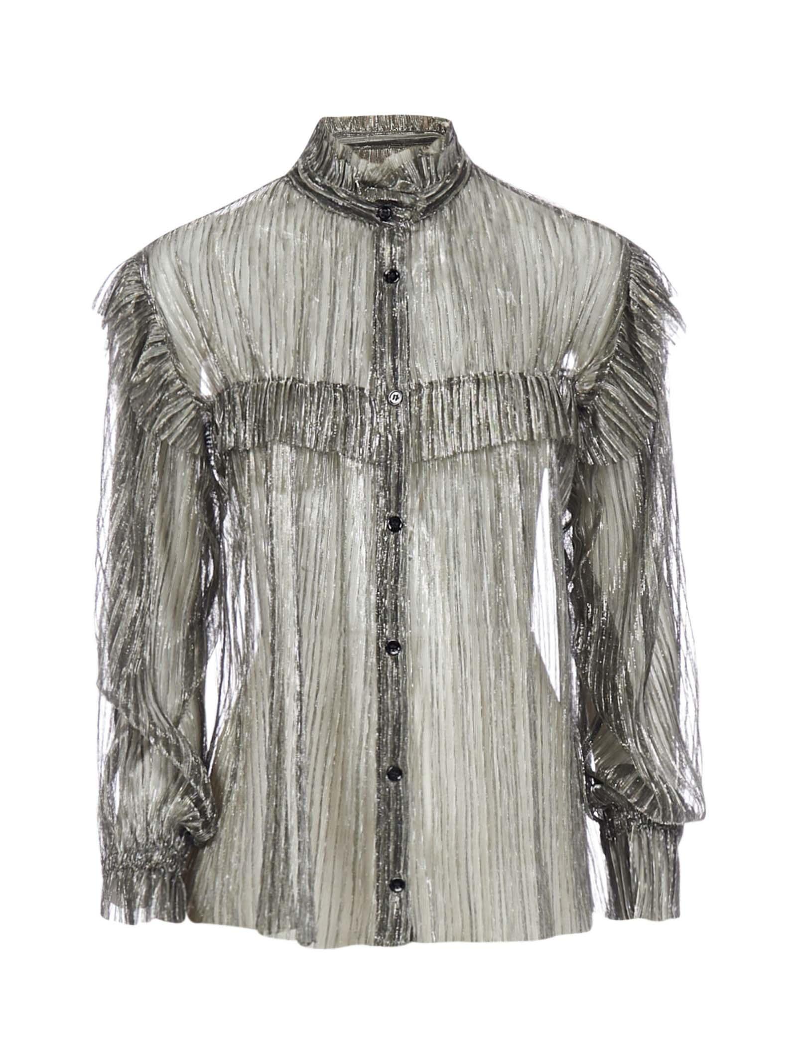 Isabel Marant Étoile Elmirae Metallic Fabric Shirt