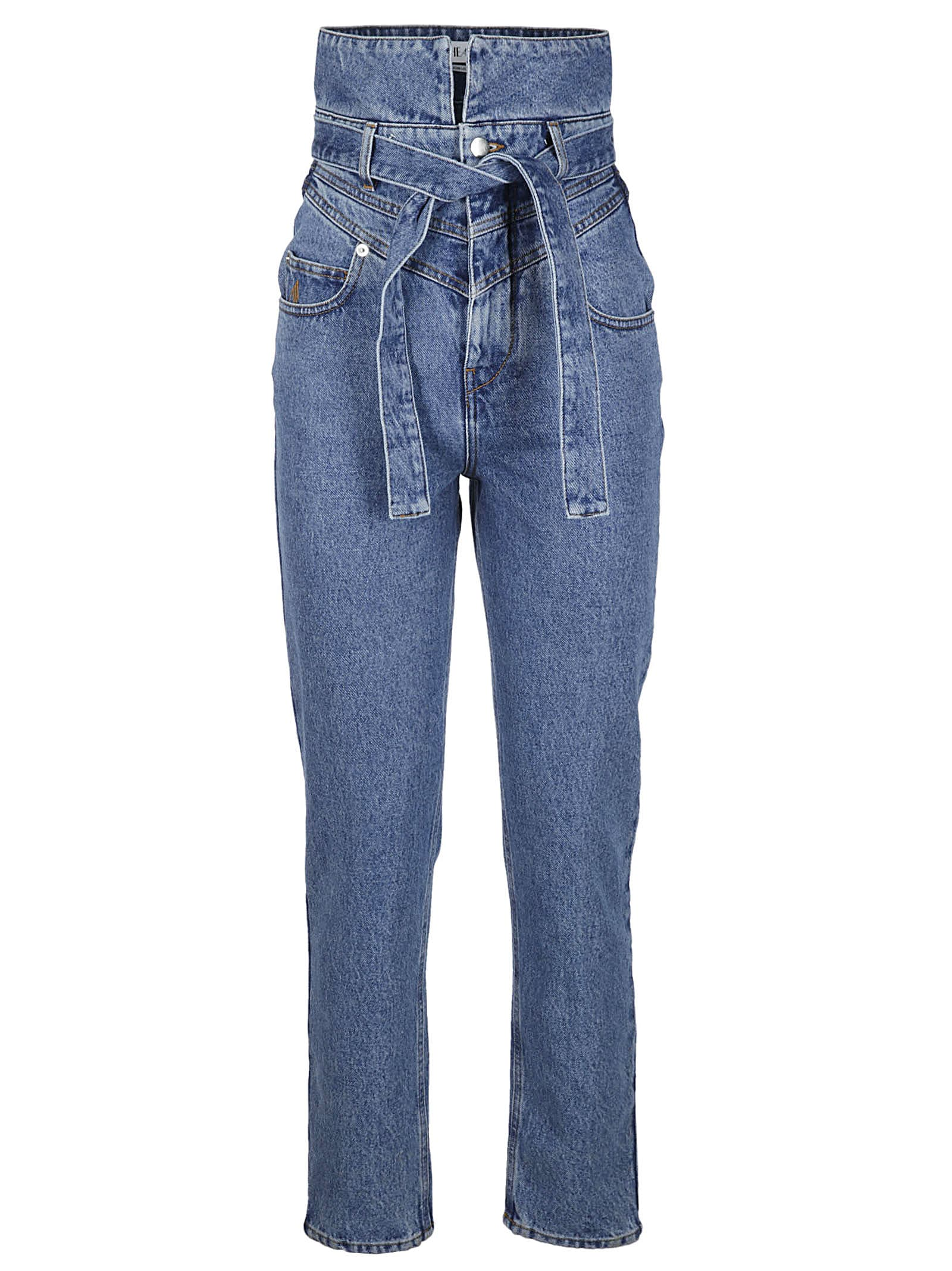 The Attico High Rise Skinny Jeans