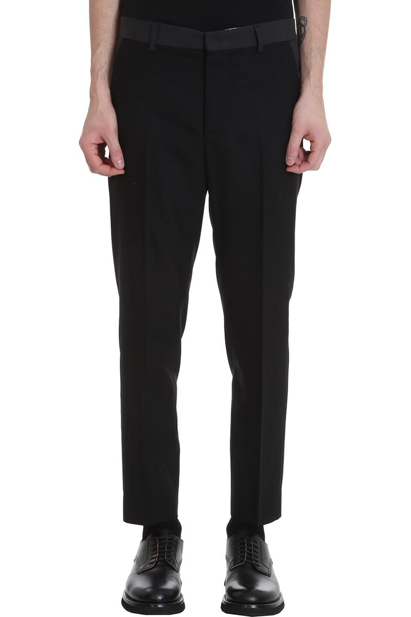 Maison Flaneur Pants In Black Wool