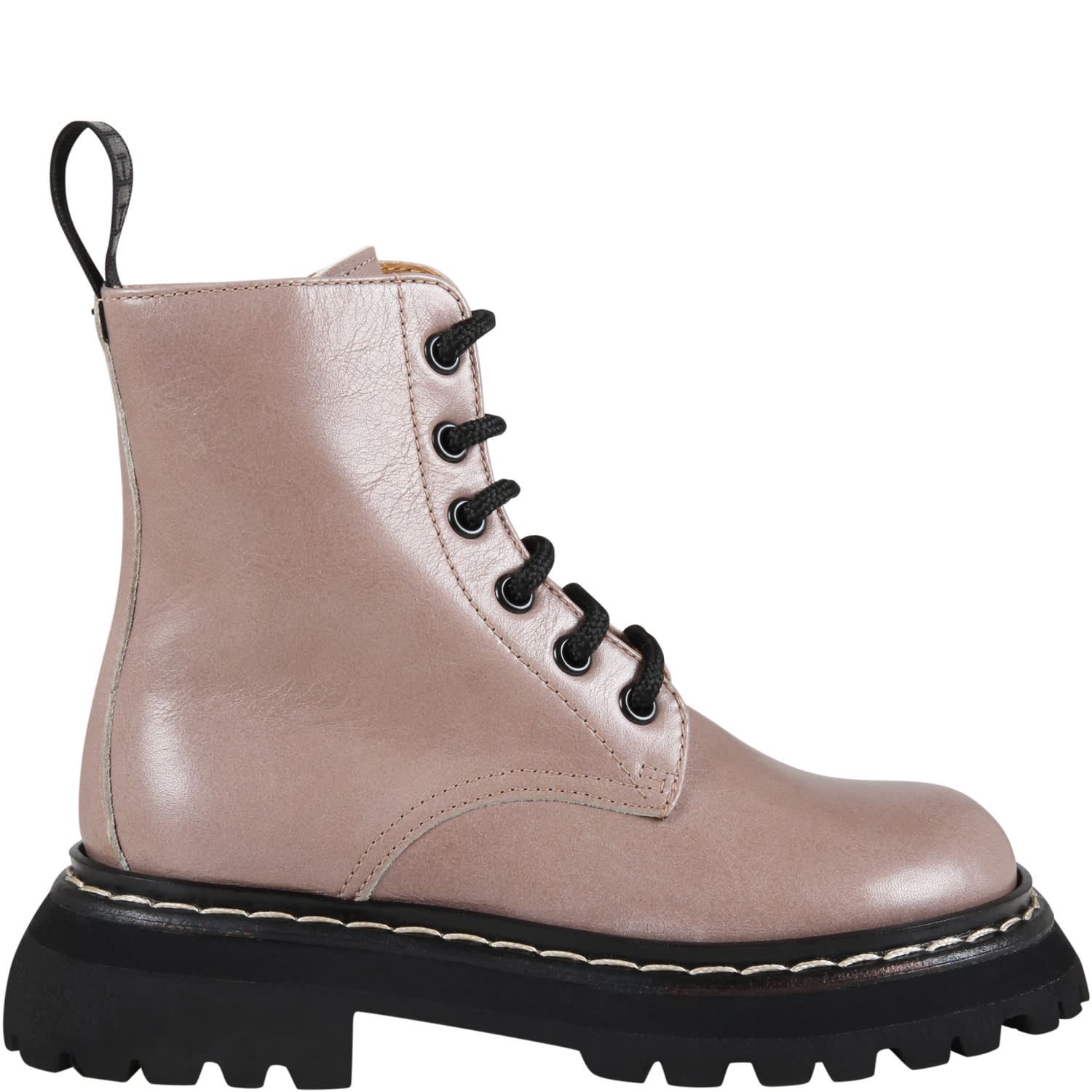 Brown Boots For Girl With Logo