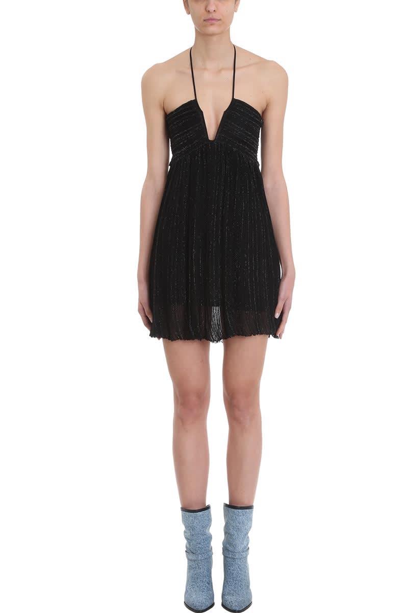 Isabel Marant Black Viscose And Lurex Blend Dress