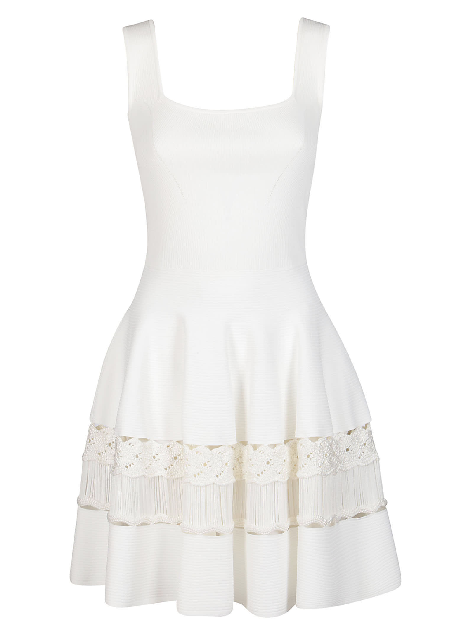Buy Alexander McQueen White Viscose Blend Dress online, shop Alexander McQueen with free shipping