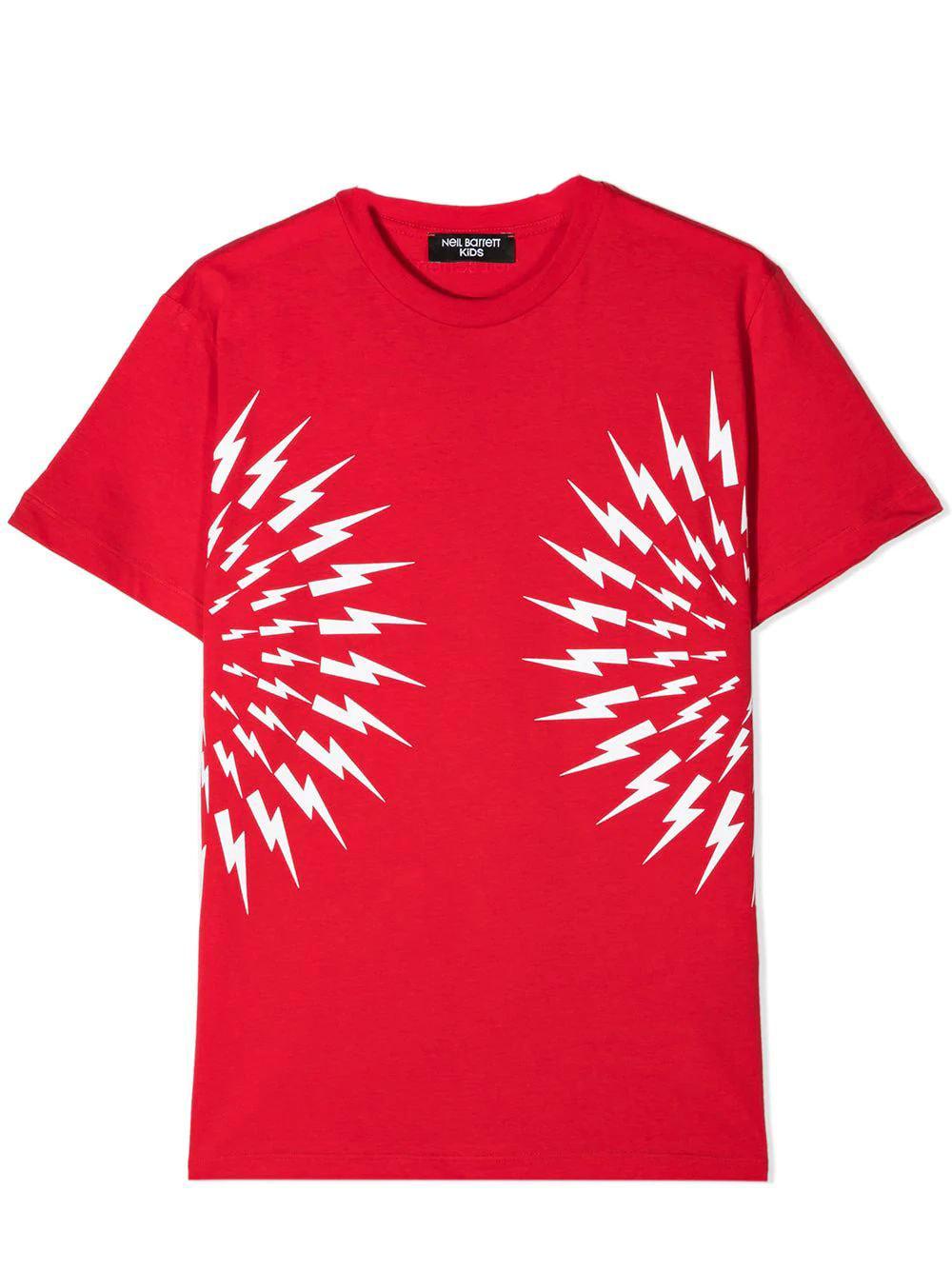 Neil Barrett Kids' Print T-shirt In Red