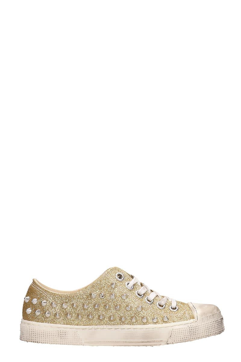 new concept 3e0b8 80c7b Gienchi Gienchi Gold Glitter Jean Michel Sneakers Low - gold ...