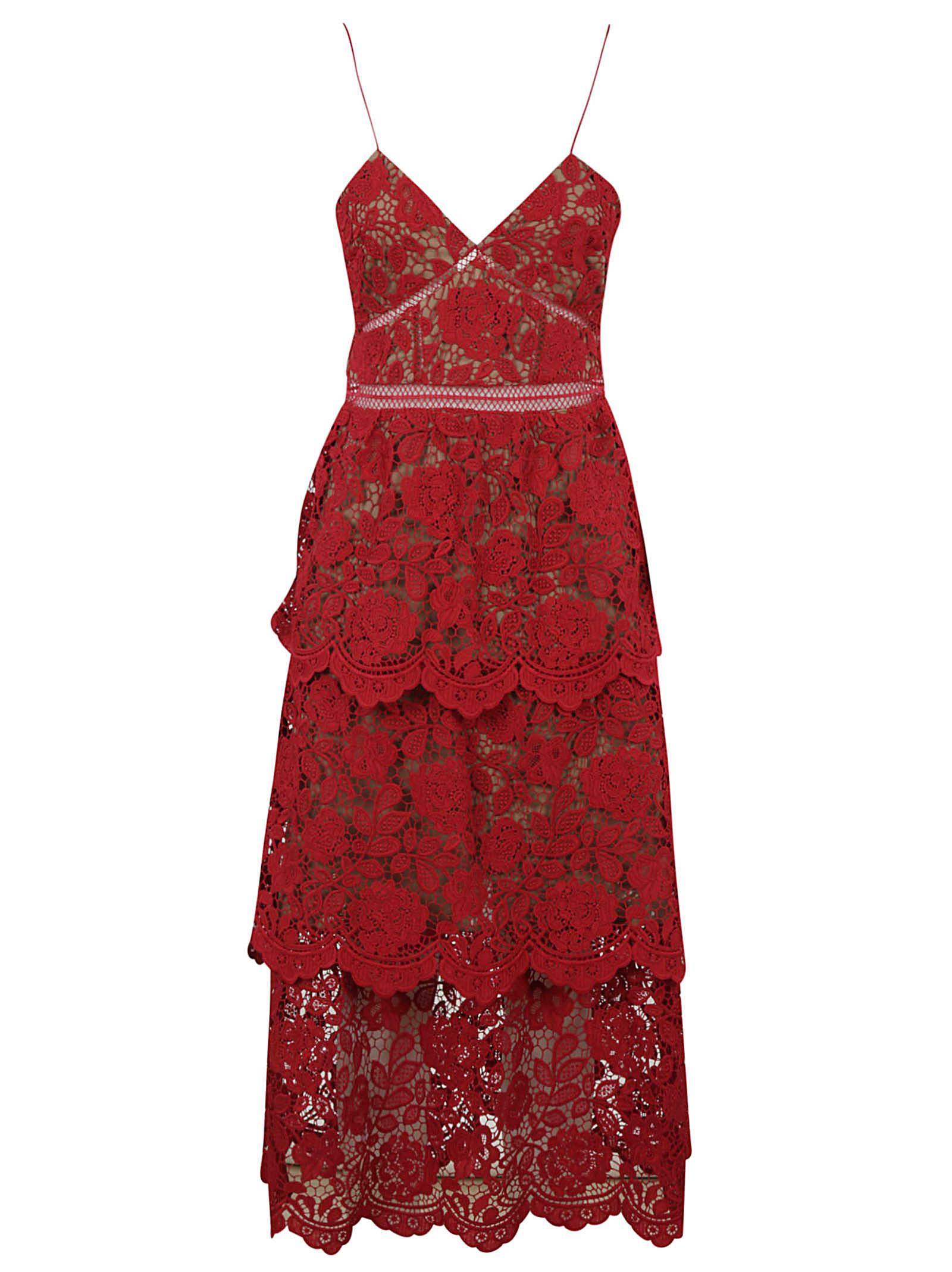 Buy self-portrait Fuchsia Flower Lace Mini Dress online, shop self-portrait with free shipping