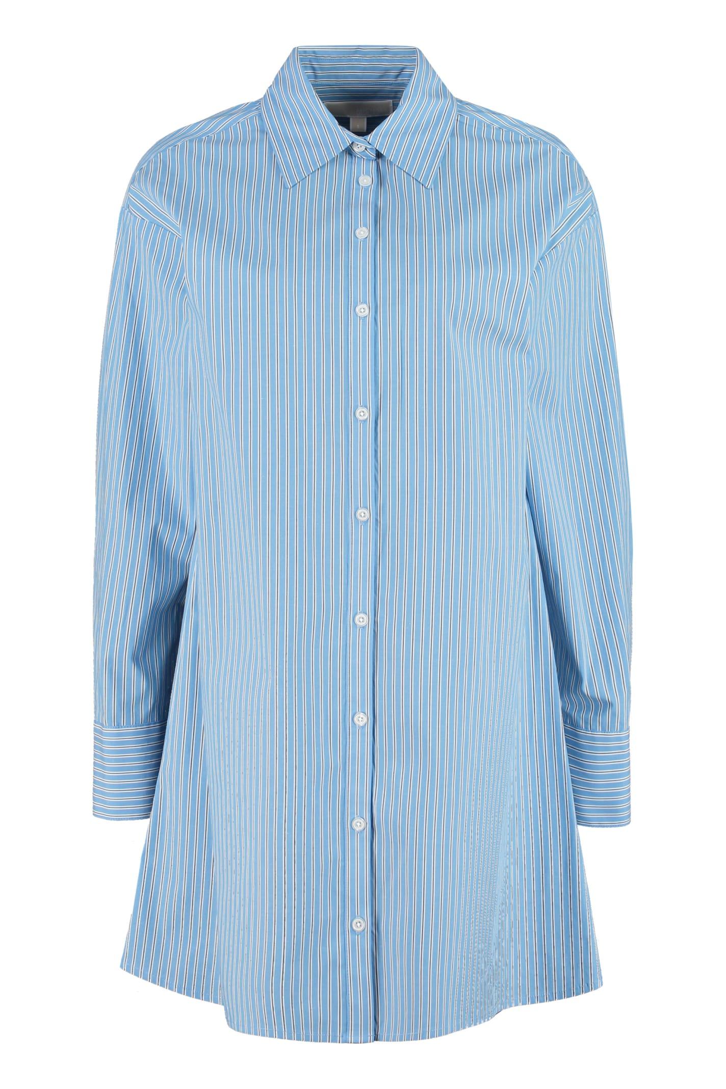 Buy MICHAEL Michael Kors Striped Poplin Shirtdress online, shop MICHAEL Michael Kors with free shipping