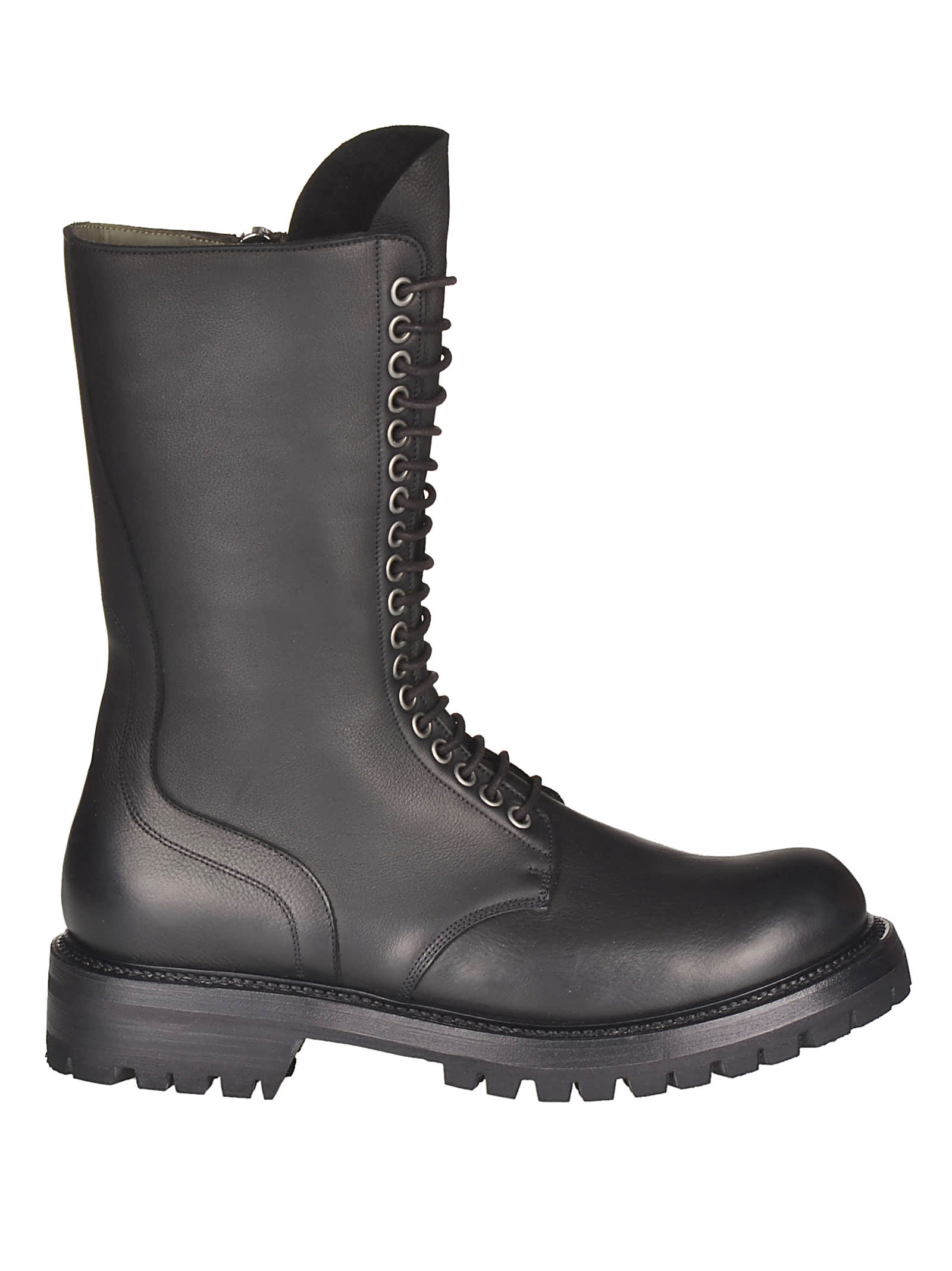 Rick Owens Zipped Army Boots