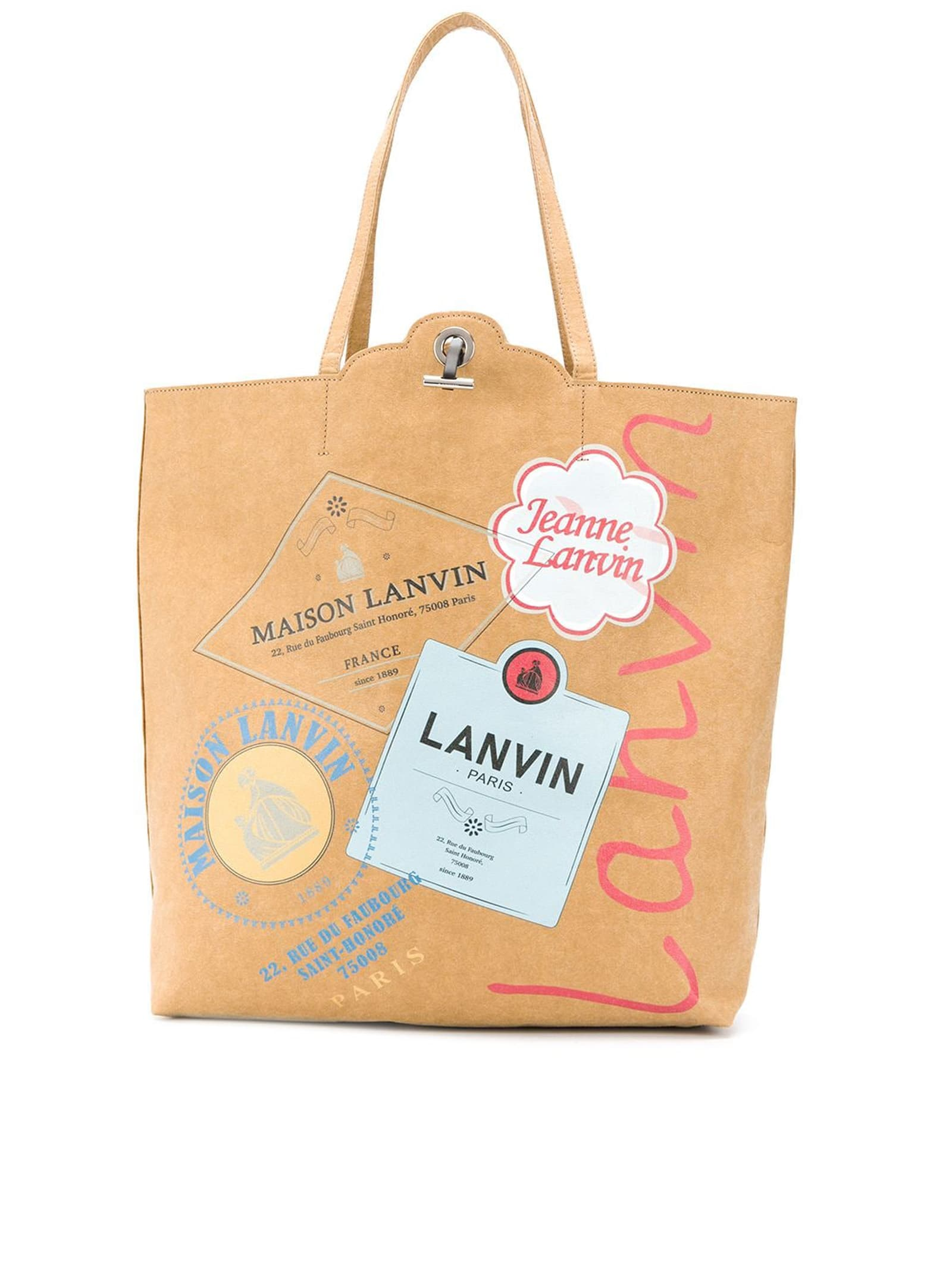 LANVIN TOTE SHOPPING BAG GROCERY