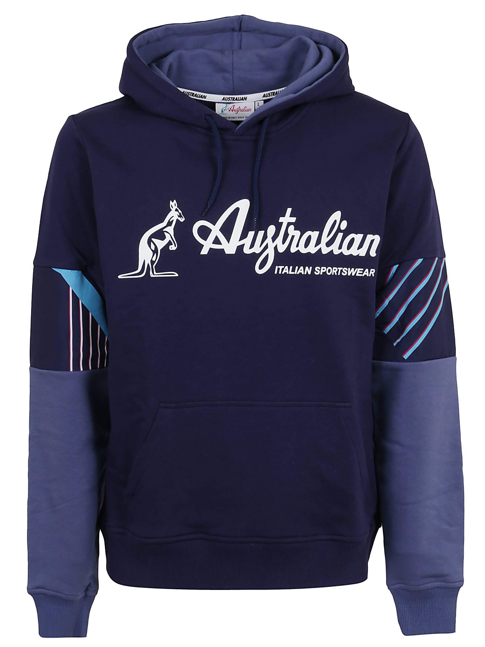 Winter Sweatshirt With Logo Hood