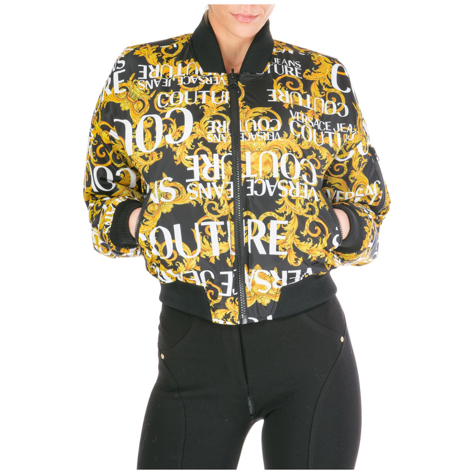 Versace Jeans Couture Outerwear Jacket Blouson Reversibile Logo Baroque